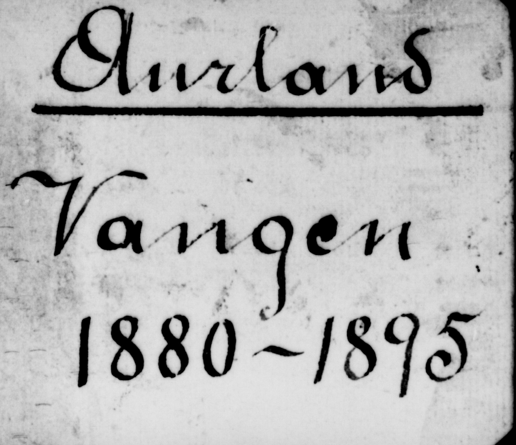 SAB, Aurland Sokneprestembete*, Klokkerbok nr. A 2, 1880-1895