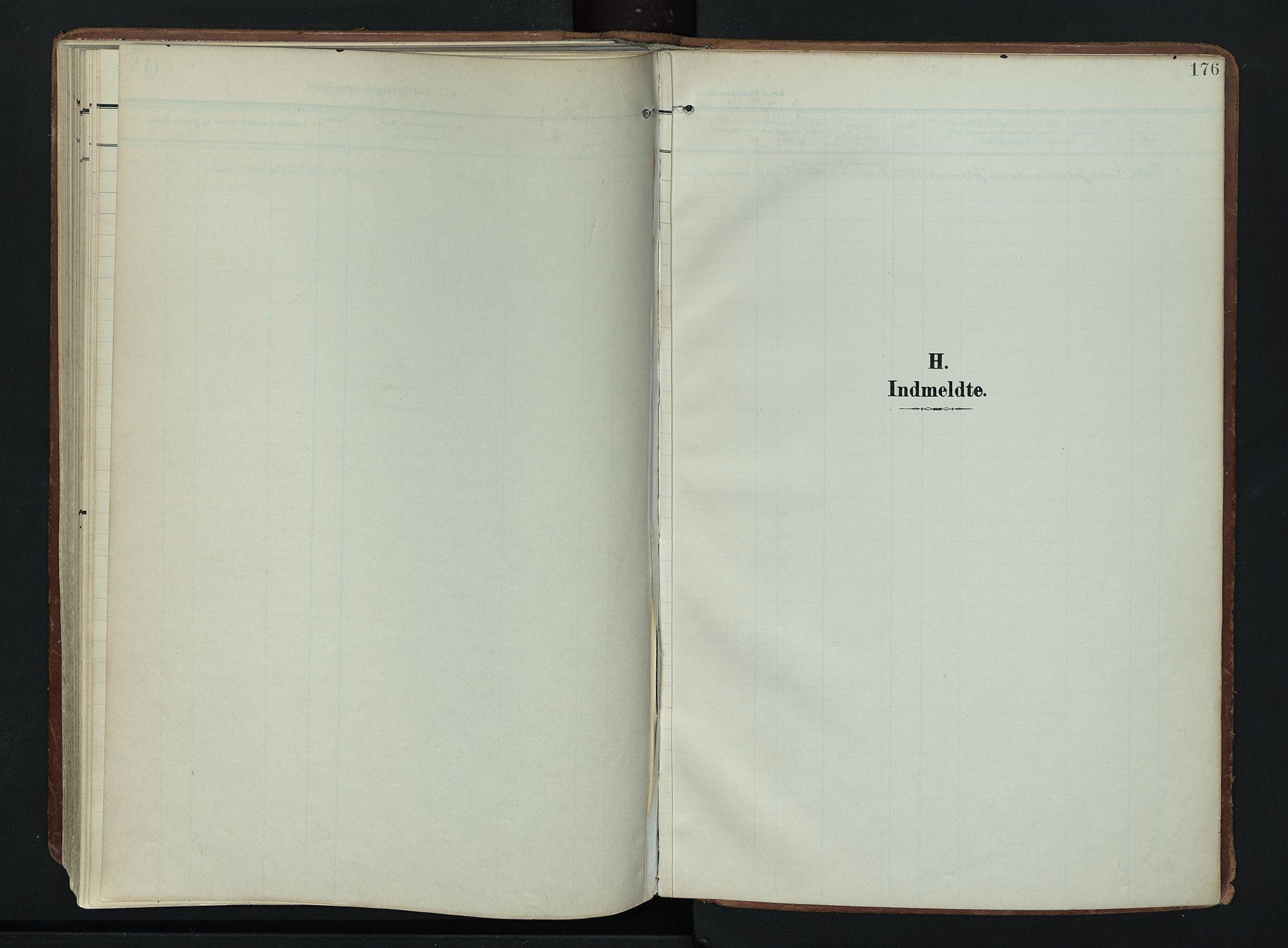 SAH, Søndre Land prestekontor, K/L0007: Ministerialbok nr. 7, 1905-1914, s. 176