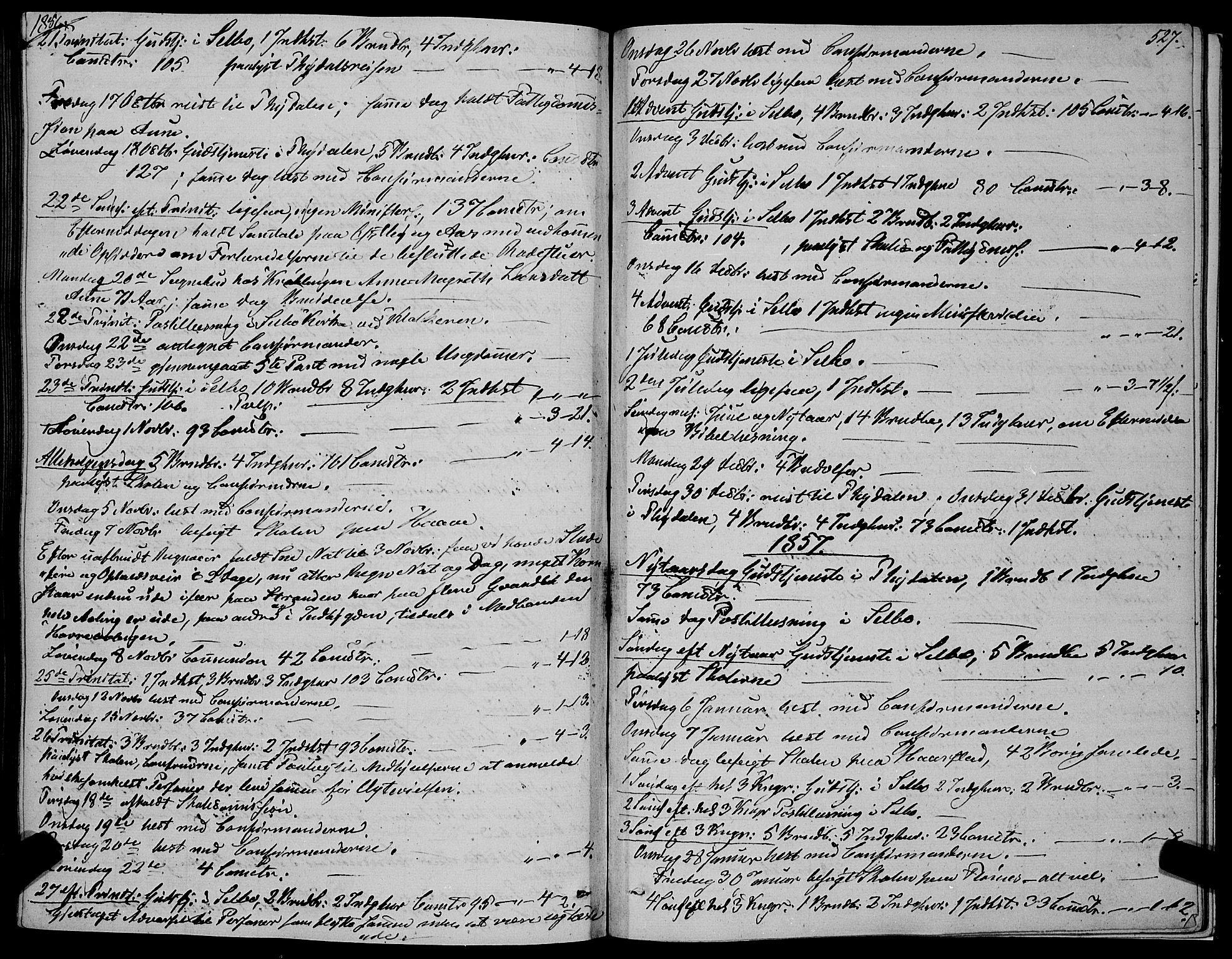 SAT, Ministerialprotokoller, klokkerbøker og fødselsregistre - Sør-Trøndelag, 695/L1145: Ministerialbok nr. 695A06 /1, 1843-1859, s. 527