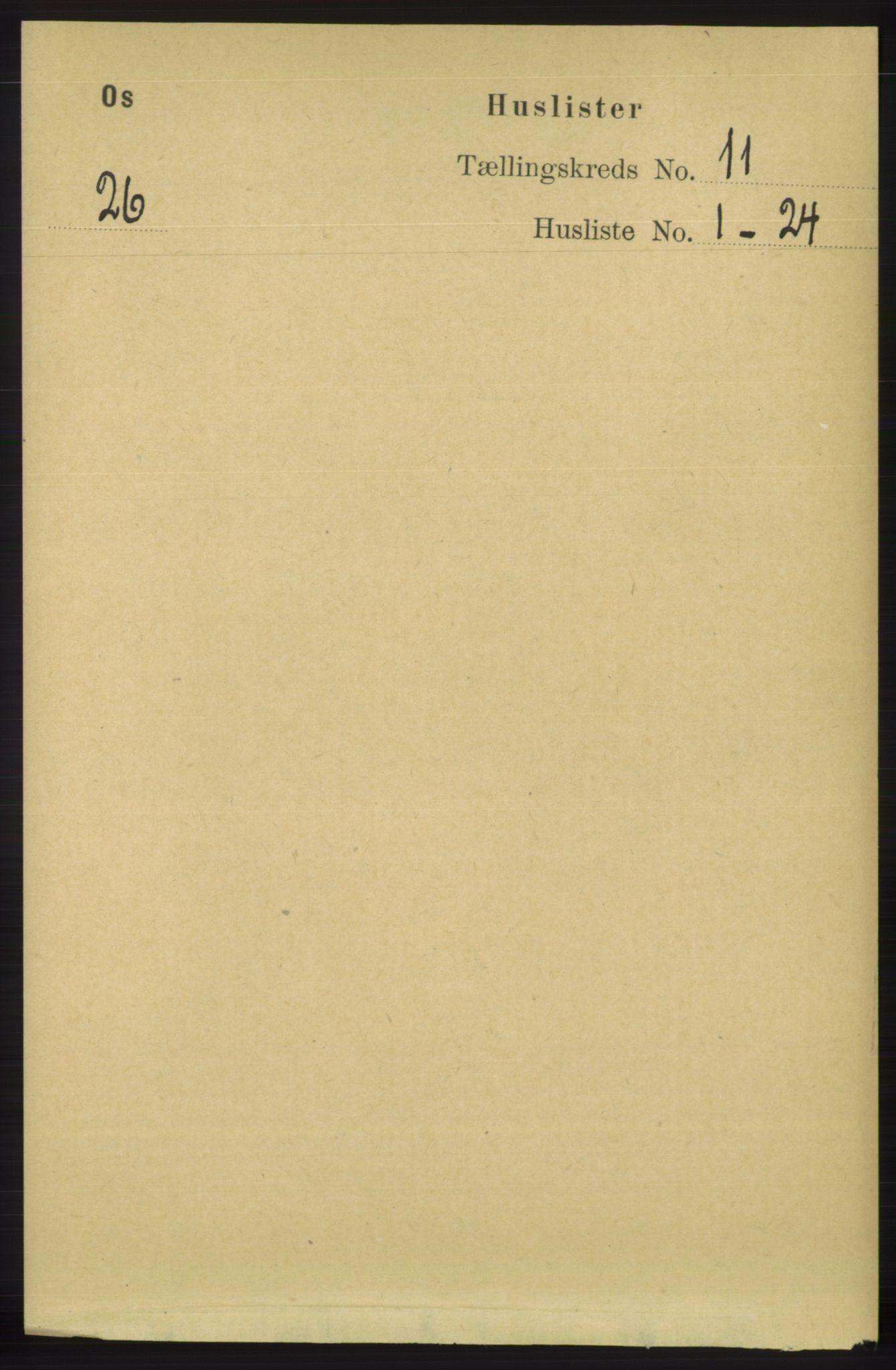 RA, Folketelling 1891 for 1243 Os herred, 1891, s. 2546