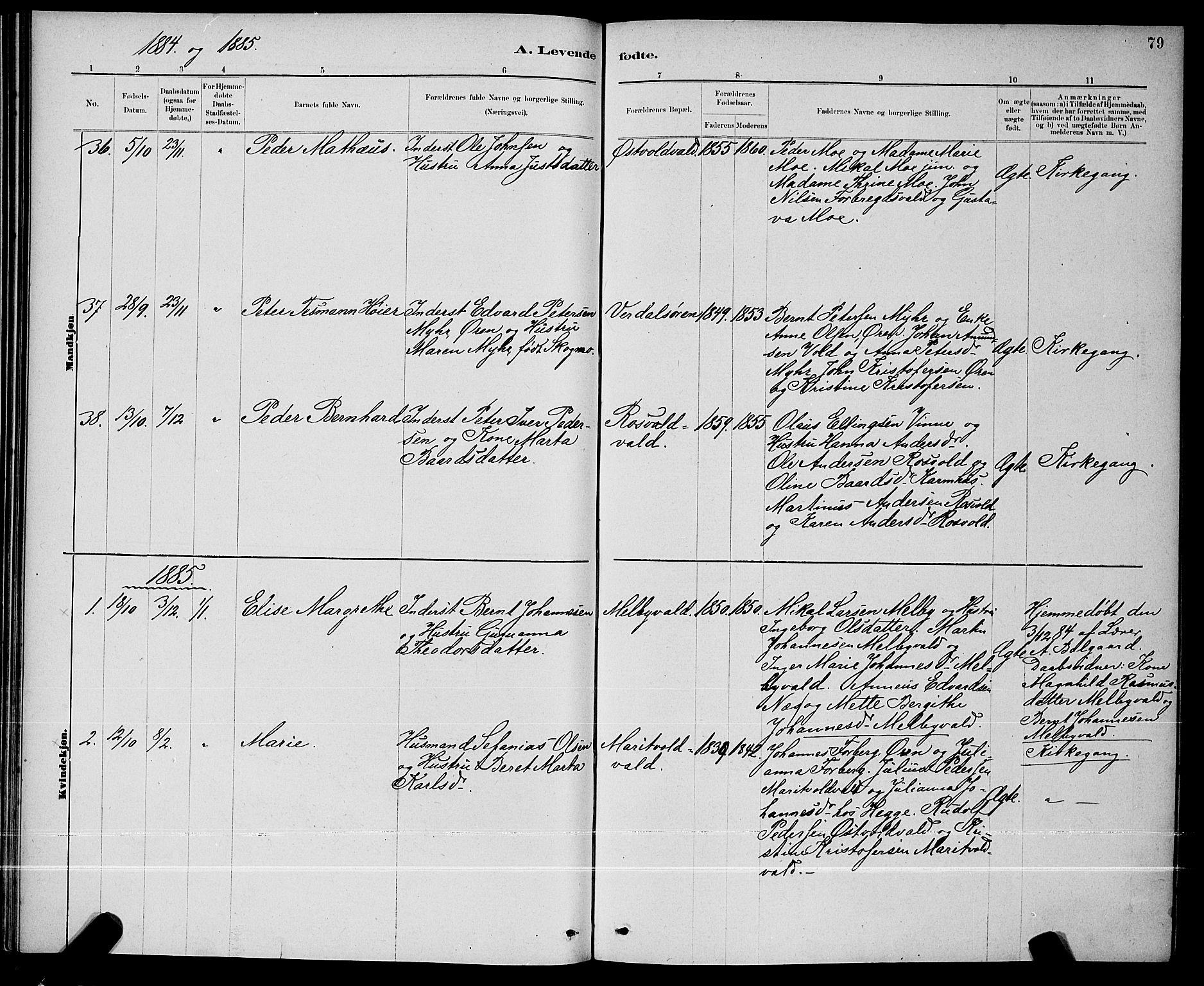 SAT, Ministerialprotokoller, klokkerbøker og fødselsregistre - Nord-Trøndelag, 723/L0256: Klokkerbok nr. 723C04, 1879-1890, s. 79