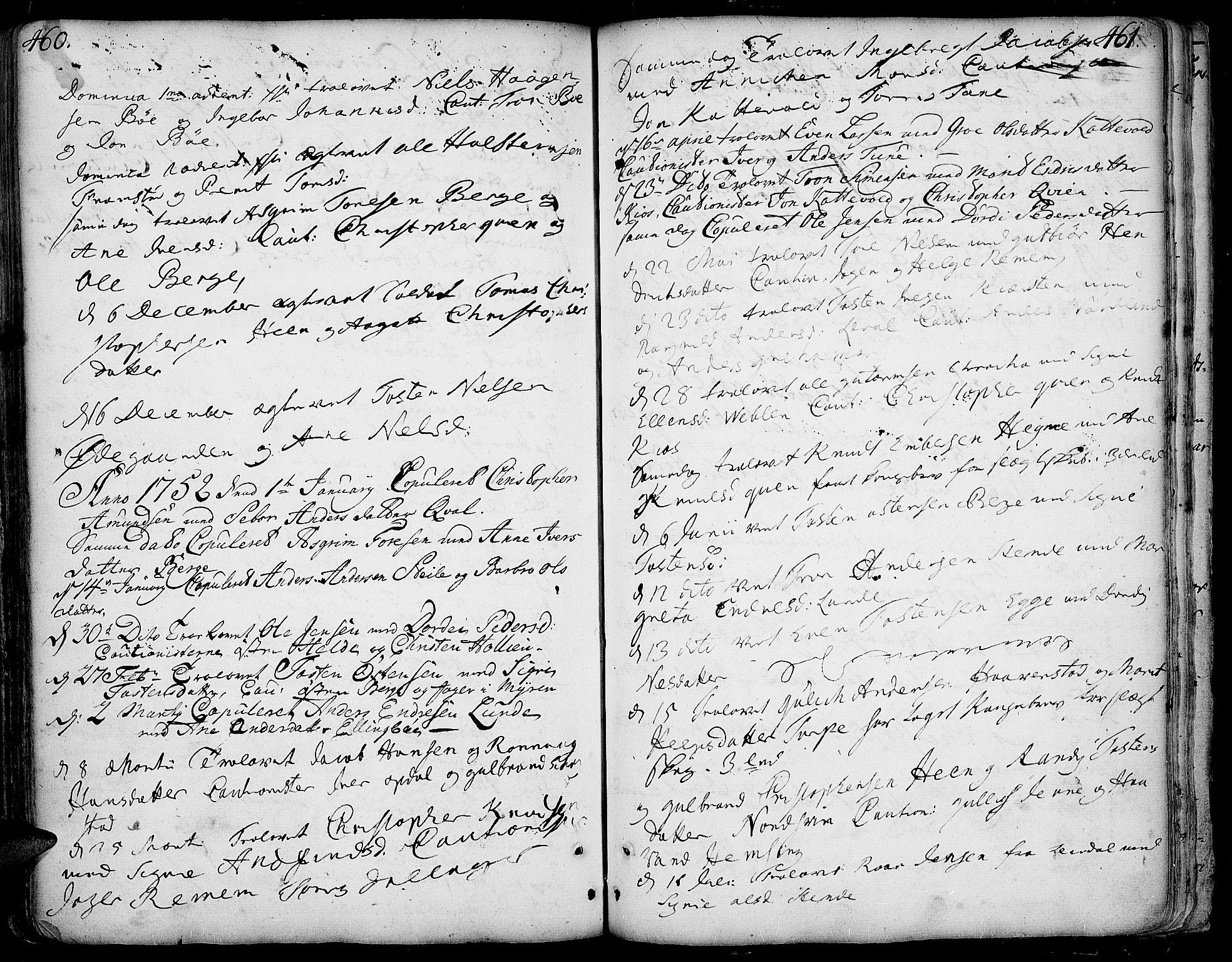 SAH, Vang prestekontor, Valdres, Ministerialbok nr. 1, 1730-1796, s. 460-461