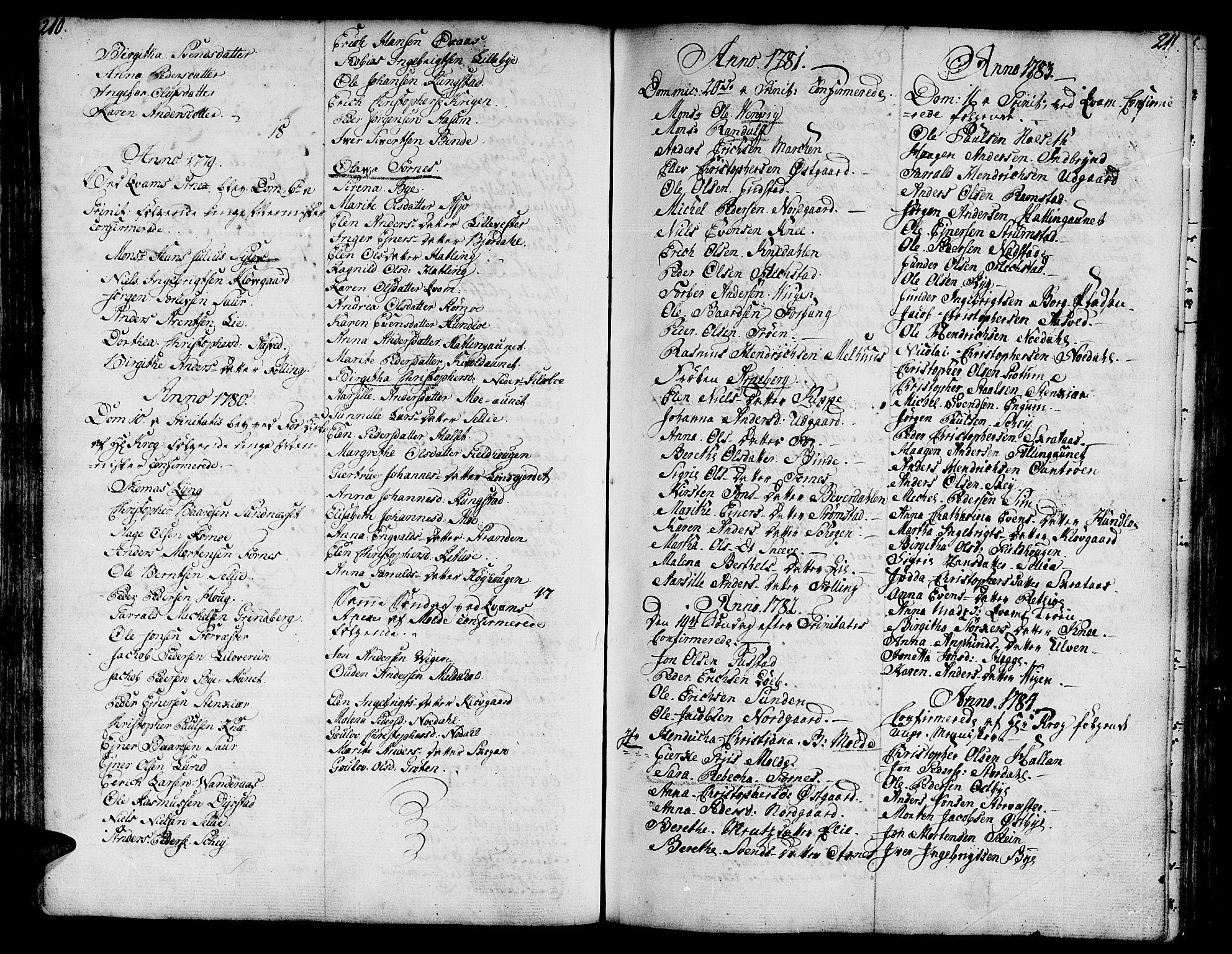 SAT, Ministerialprotokoller, klokkerbøker og fødselsregistre - Nord-Trøndelag, 746/L0440: Ministerialbok nr. 746A02, 1760-1815, s. 210-211