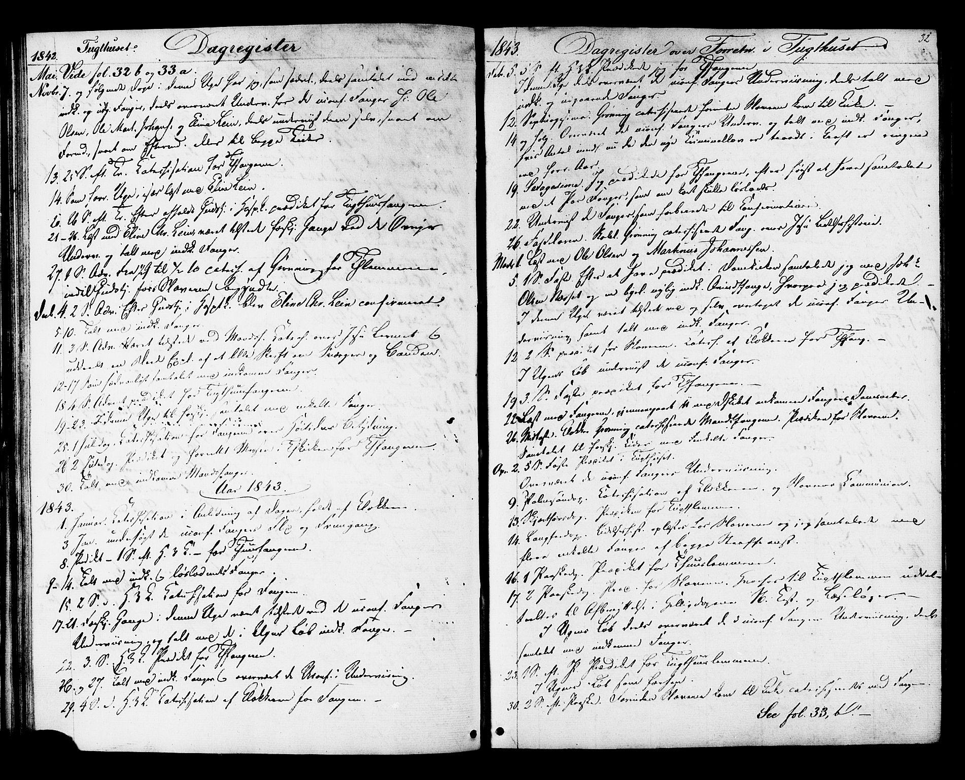 SAT, Ministerialprotokoller, klokkerbøker og fødselsregistre - Sør-Trøndelag, 624/L0480: Ministerialbok nr. 624A01, 1841-1864, s. 32