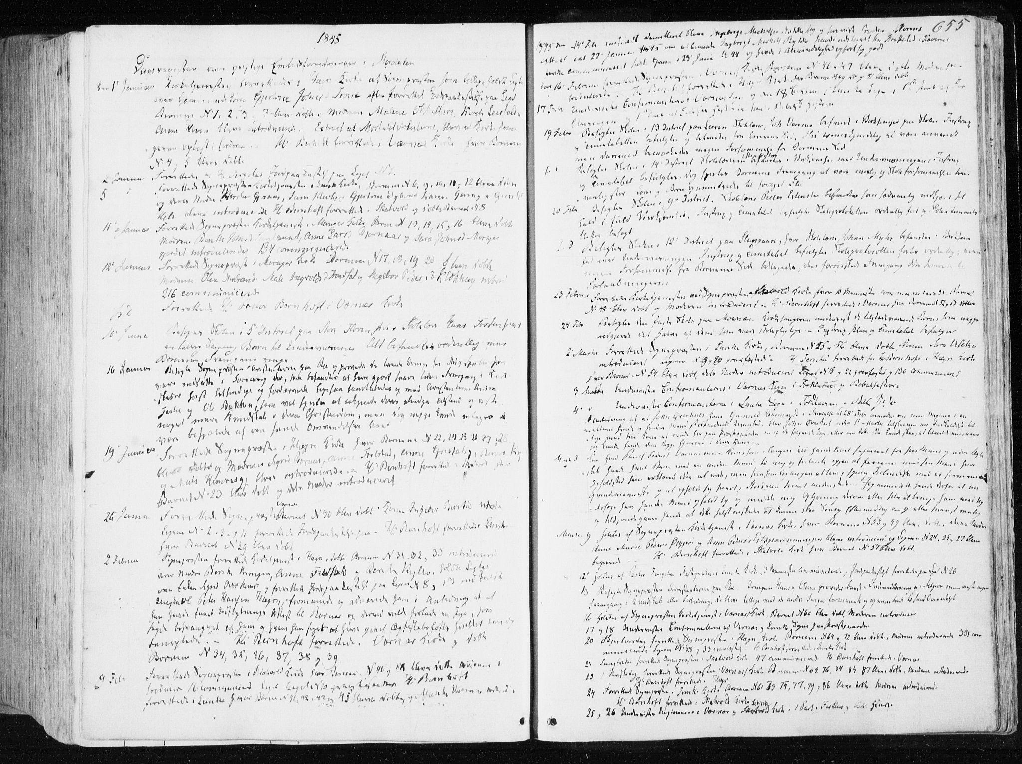 SAT, Ministerialprotokoller, klokkerbøker og fødselsregistre - Nord-Trøndelag, 709/L0074: Ministerialbok nr. 709A14, 1845-1858, s. 655