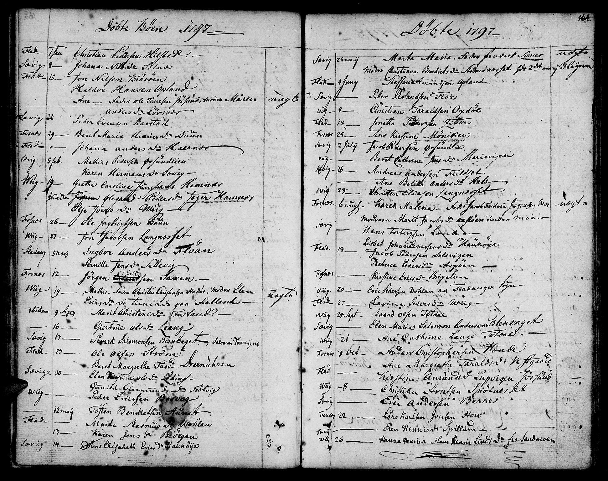 SAT, Ministerialprotokoller, klokkerbøker og fødselsregistre - Nord-Trøndelag, 773/L0608: Ministerialbok nr. 773A02, 1784-1816, s. 164