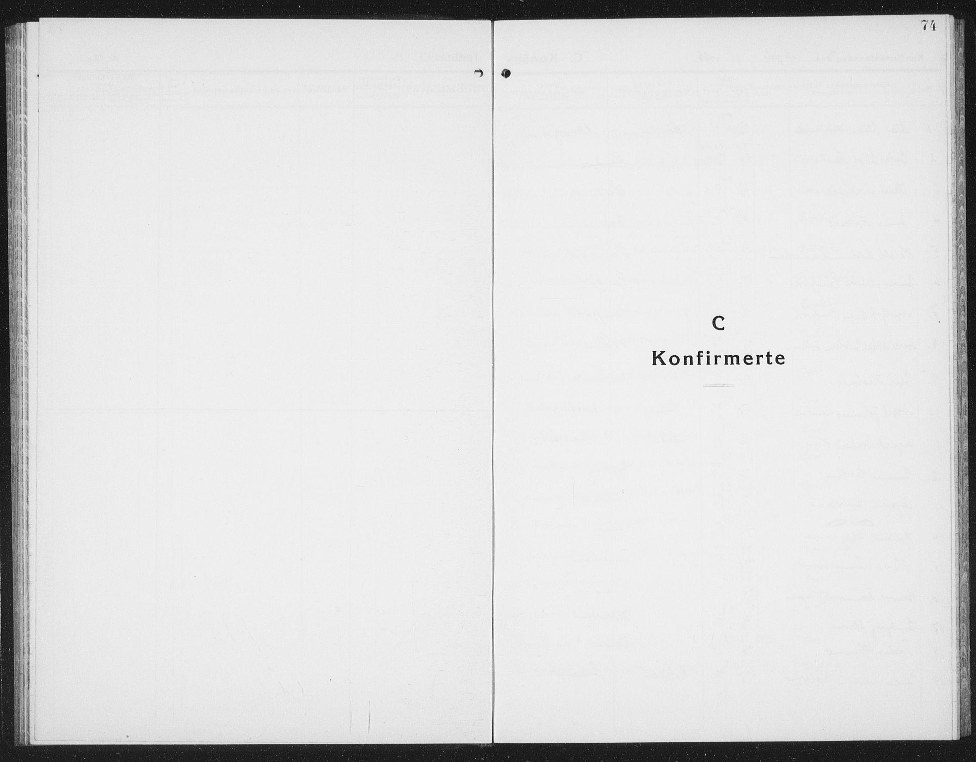 SAT, Ministerialprotokoller, klokkerbøker og fødselsregistre - Nord-Trøndelag, 780/L0654: Klokkerbok nr. 780C06, 1928-1942, s. 74