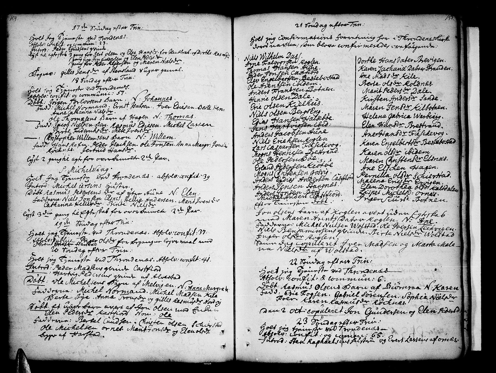 SATØ, Trondenes sokneprestkontor, H/Ha/L0002kirke: Ministerialbok nr. 2, 1751-1781, s. 154-155