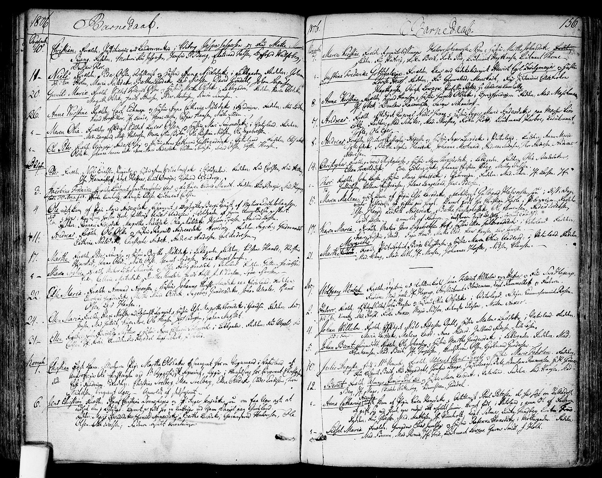 SAO, Garnisonsmenigheten Kirkebøker, F/Fa/L0003: Ministerialbok nr. 3, 1777-1809, s. 156