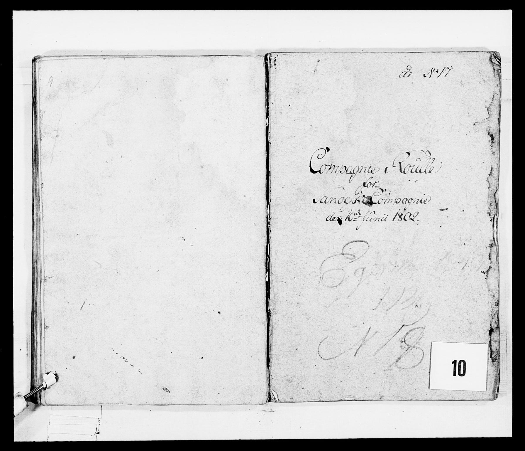 RA, Generalitets- og kommissariatskollegiet, Det kongelige norske kommissariatskollegium, E/Eh/L0047: 2. Akershusiske nasjonale infanteriregiment, 1791-1810, s. 97