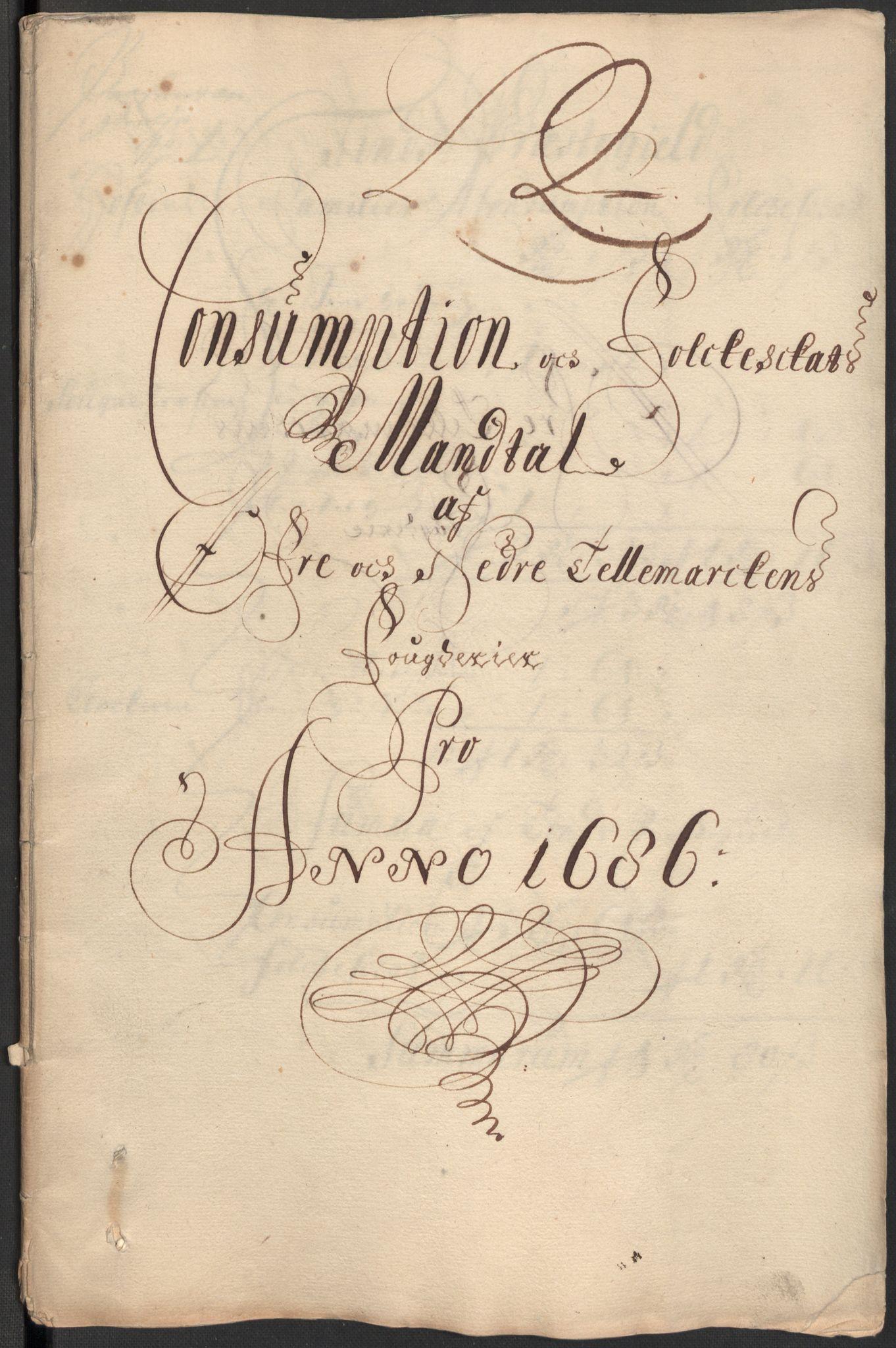 RA, Rentekammeret inntil 1814, Reviderte regnskaper, Fogderegnskap, R35/L2083: Fogderegnskap Øvre og Nedre Telemark, 1686, s. 363