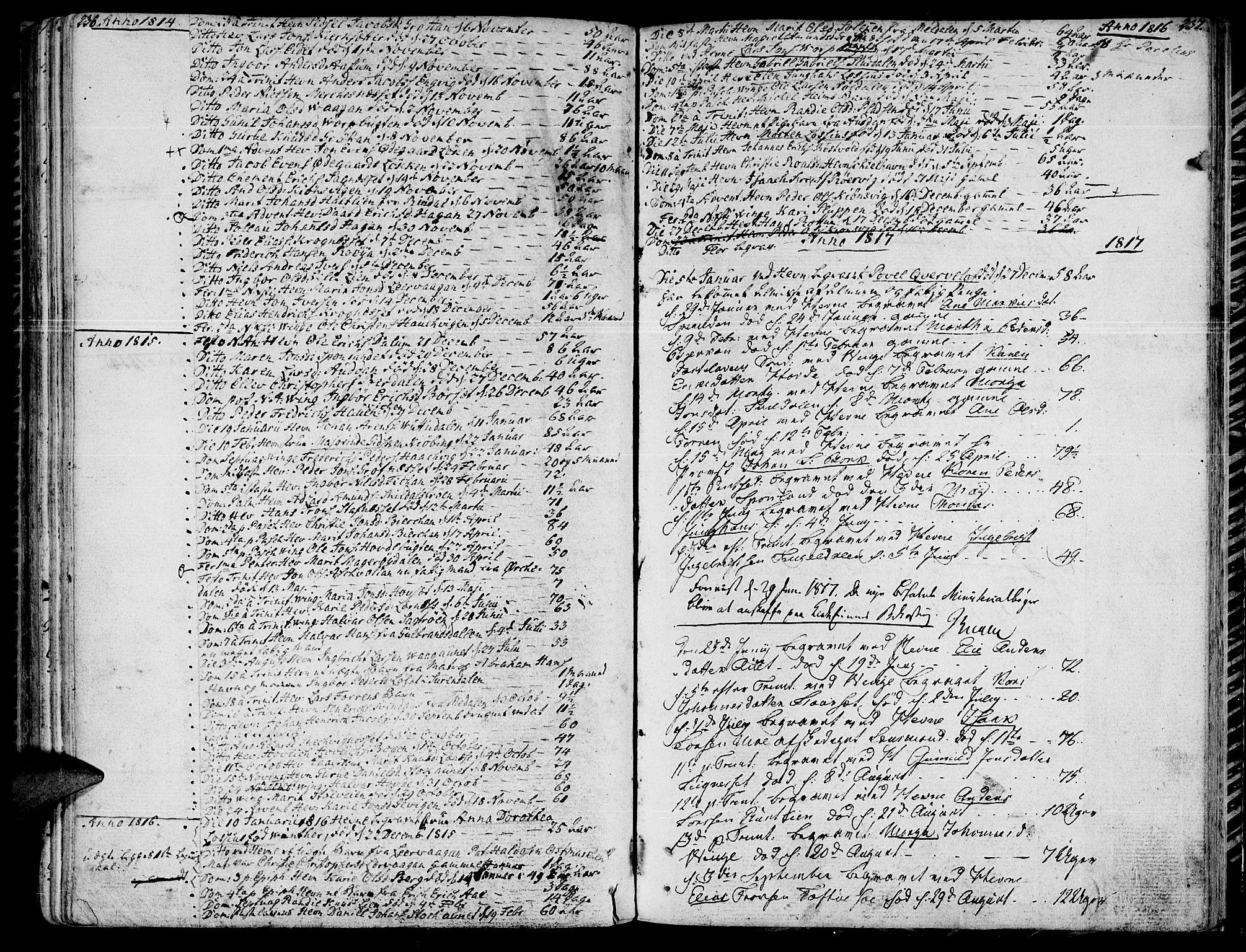 SAT, Ministerialprotokoller, klokkerbøker og fødselsregistre - Sør-Trøndelag, 630/L0490: Ministerialbok nr. 630A03, 1795-1818, s. 236-237
