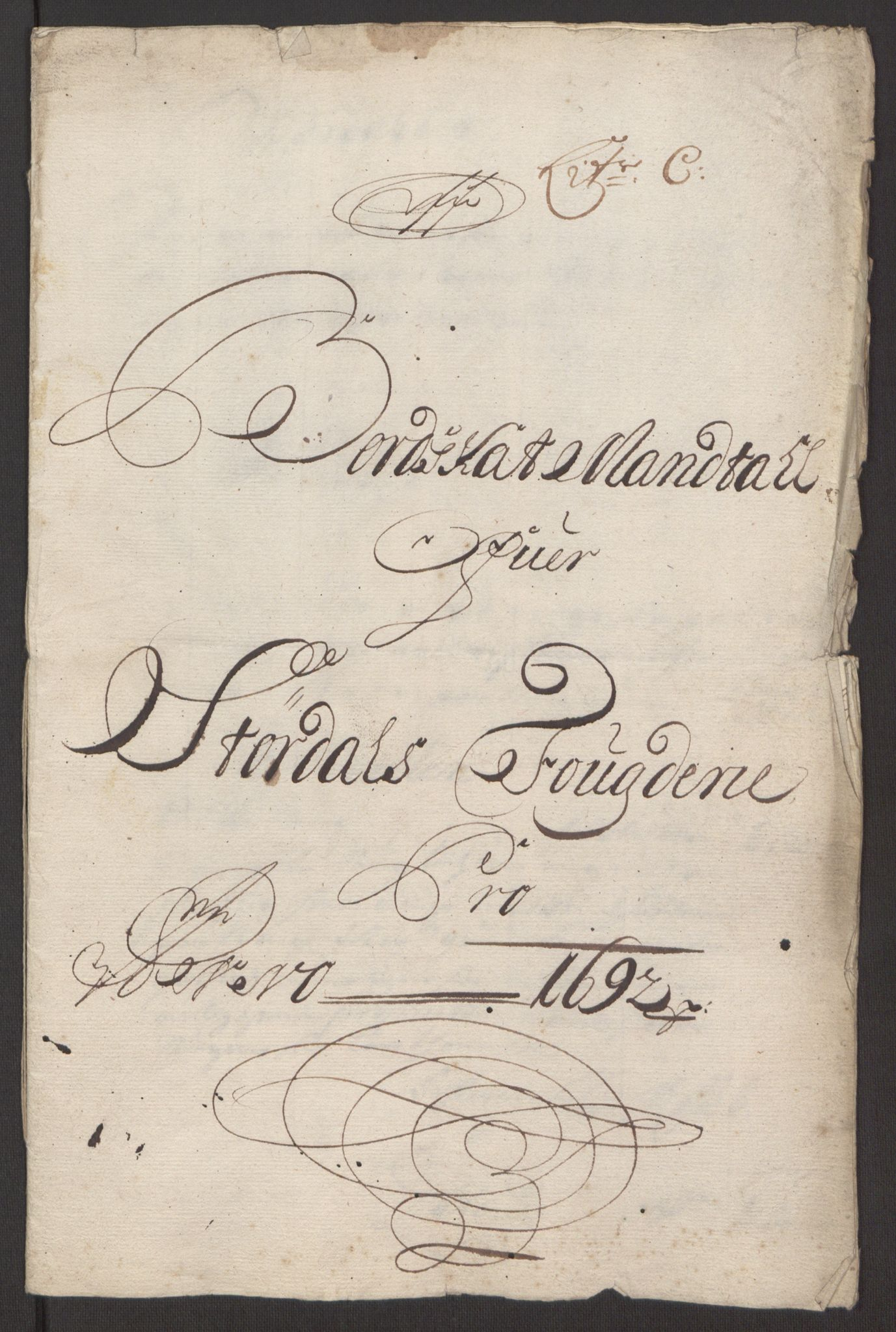 RA, Rentekammeret inntil 1814, Reviderte regnskaper, Fogderegnskap, R62/L4185: Fogderegnskap Stjørdal og Verdal, 1692, s. 87