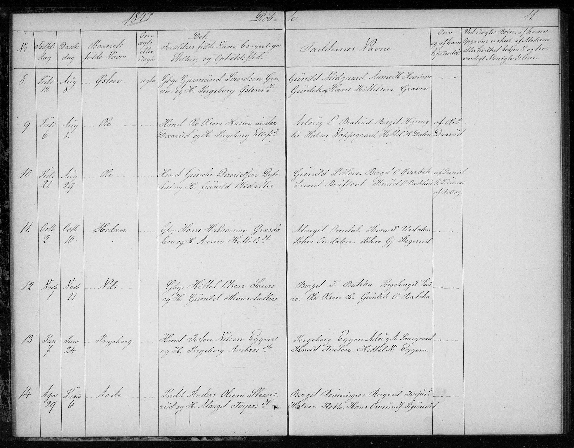 SAKO, Gransherad kirkebøker, F/Fb/L0003: Ministerialbok nr. II 3, 1844-1859, s. 11