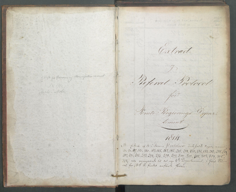 RA, Departementene i 1814, Fe/L0054: Journal, 1814