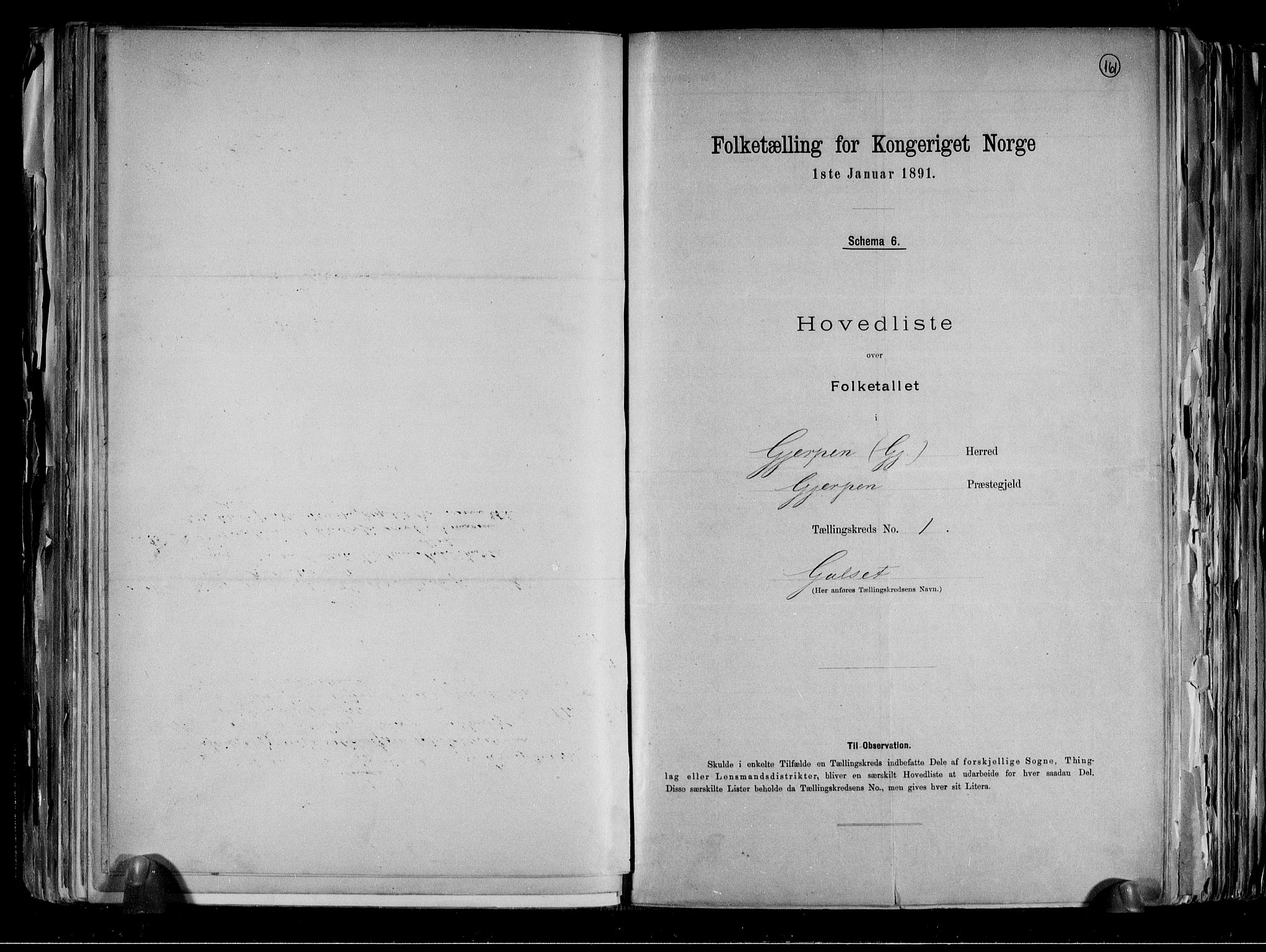RA, Folketelling 1891 for 0812 Gjerpen herred, 1891, s. 8