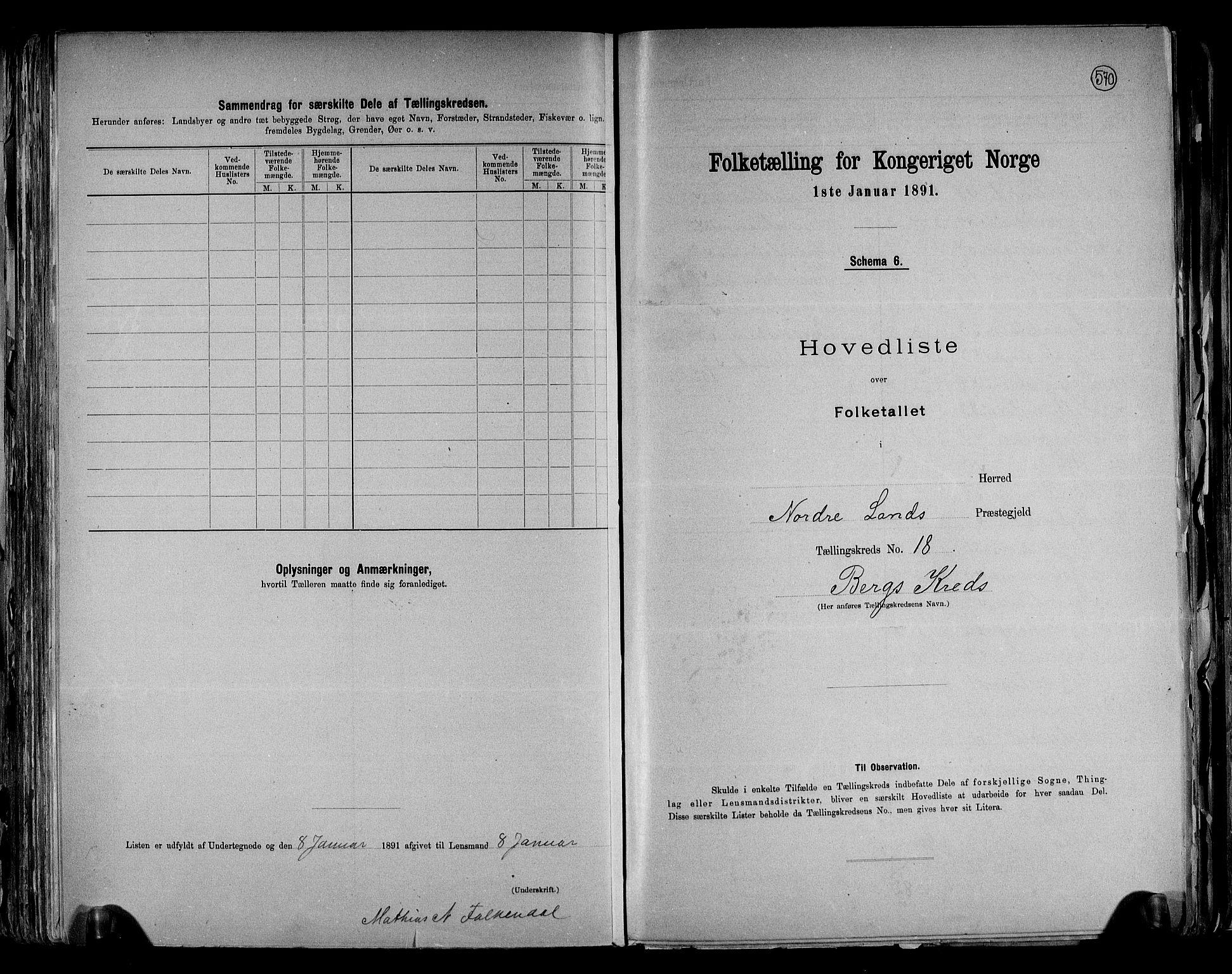 RA, Folketelling 1891 for 0538 Nordre Land herred, 1891, s. 38