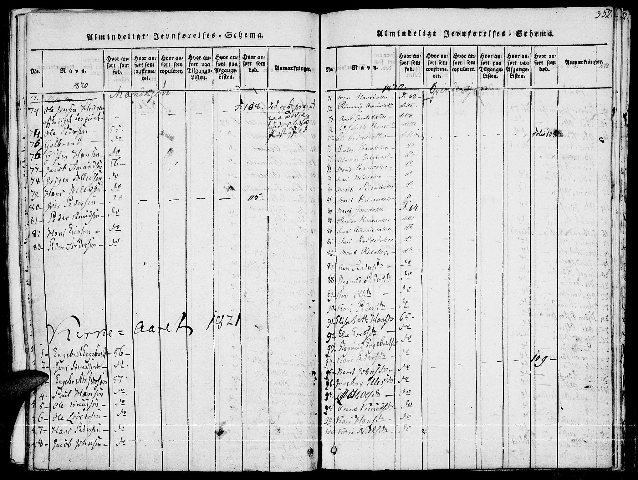SAH, Fron prestekontor, H/Ha/Haa/L0002: Ministerialbok nr. 2, 1816-1827, s. 352