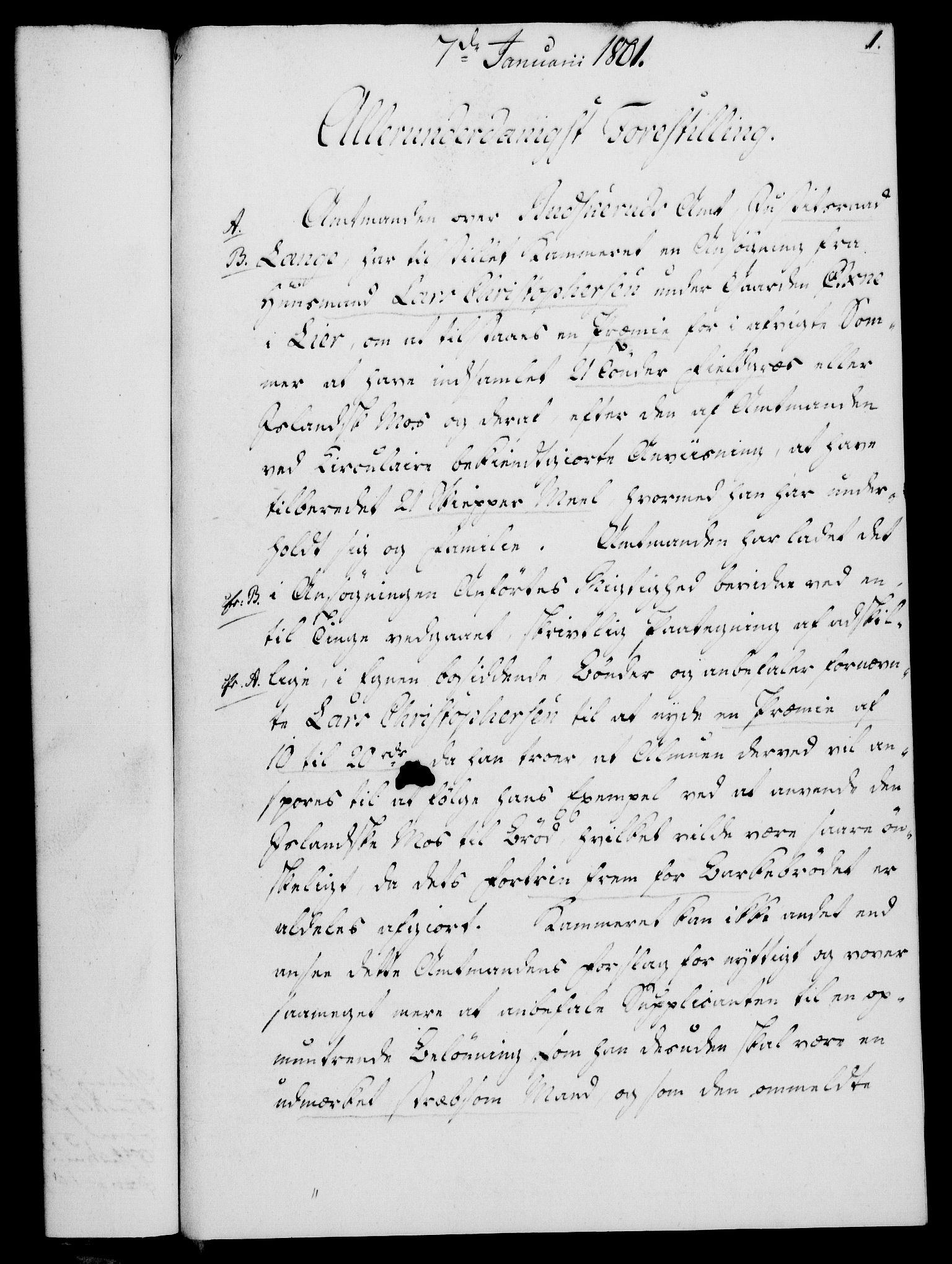 RA, Rentekammeret, Kammerkanselliet, G/Gf/Gfa/L0083: Norsk relasjons- og resolusjonsprotokoll (merket RK 52.83), 1801, s. 28