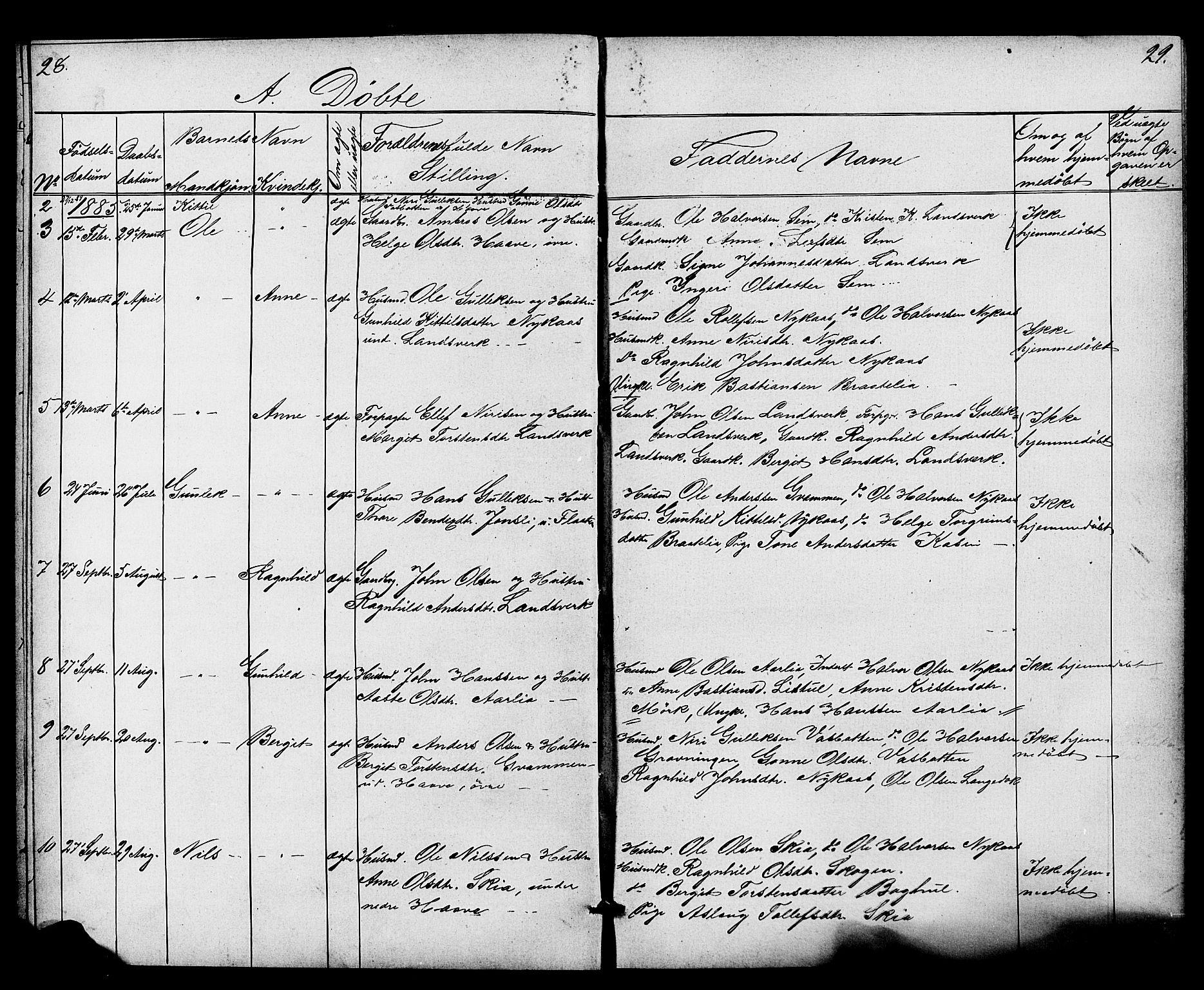 SAKO, Heddal kirkebøker, G/Gb/L0001: Klokkerbok nr. II 1, 1866-1887, s. 28-29
