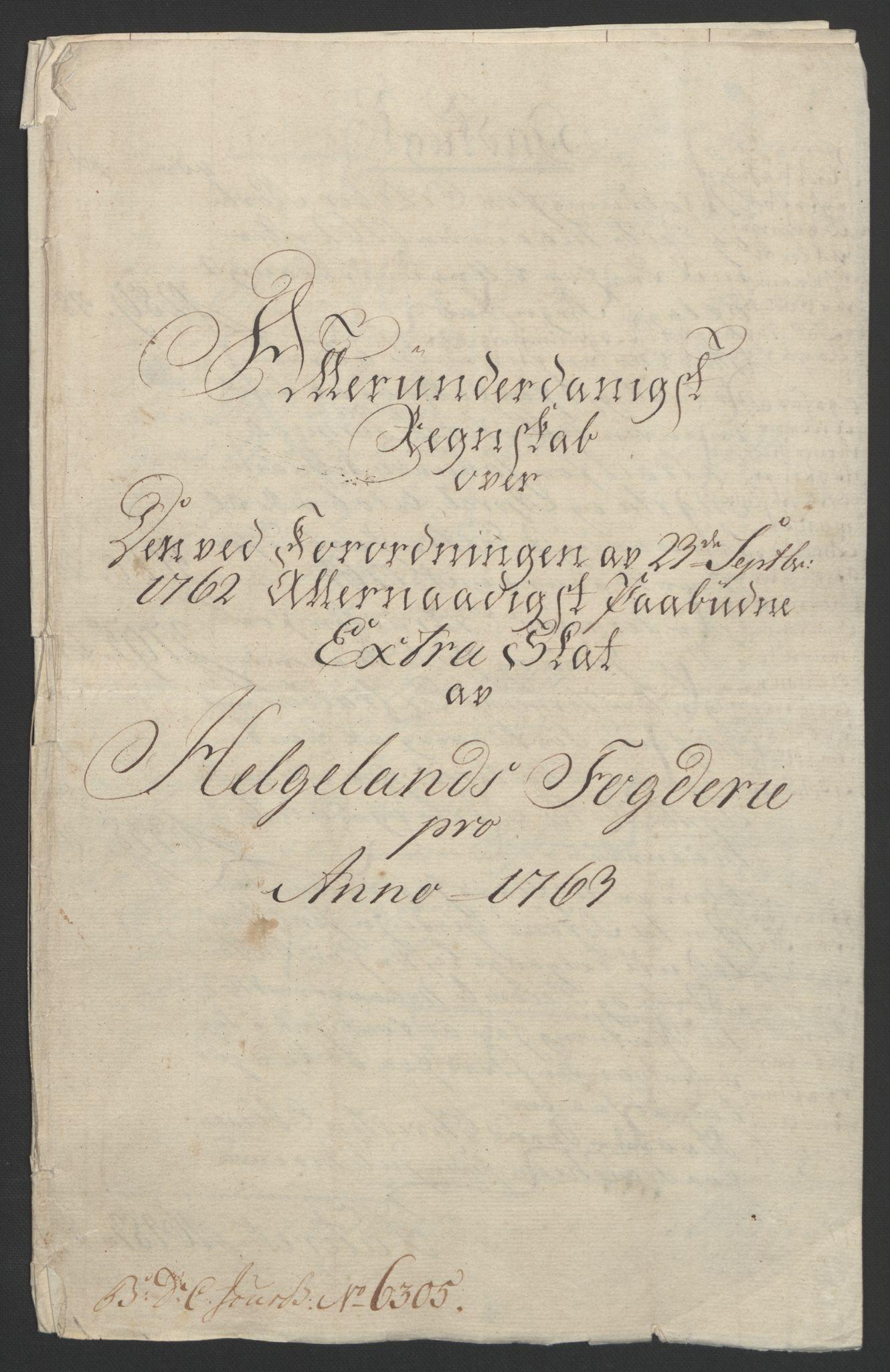 RA, Rentekammeret inntil 1814, Reviderte regnskaper, Fogderegnskap, R65/L4573: Ekstraskatten Helgeland, 1762-1772, s. 18