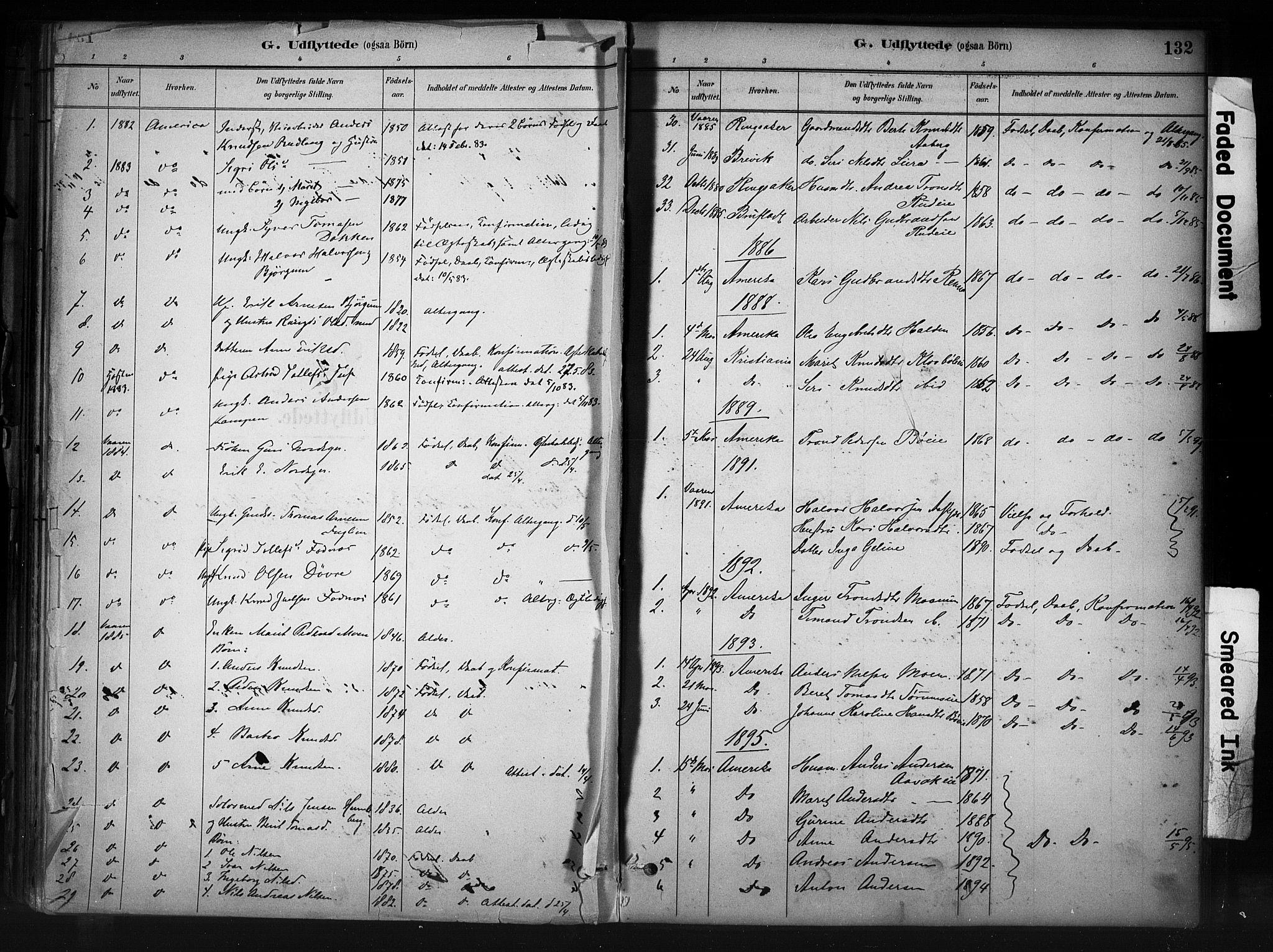 SAH, Nord-Aurdal prestekontor, Ministerialbok nr. 13, 1883-1895, s. 132
