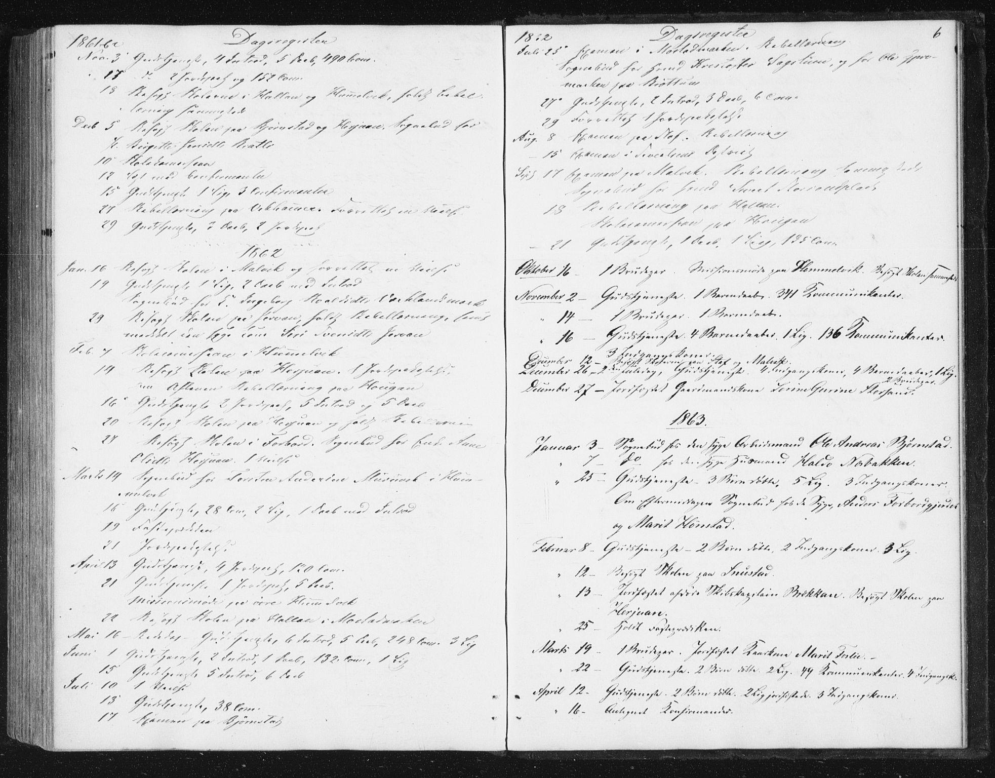 SAT, Ministerialprotokoller, klokkerbøker og fødselsregistre - Sør-Trøndelag, 616/L0408: Ministerialbok nr. 616A05, 1857-1865, s. 6