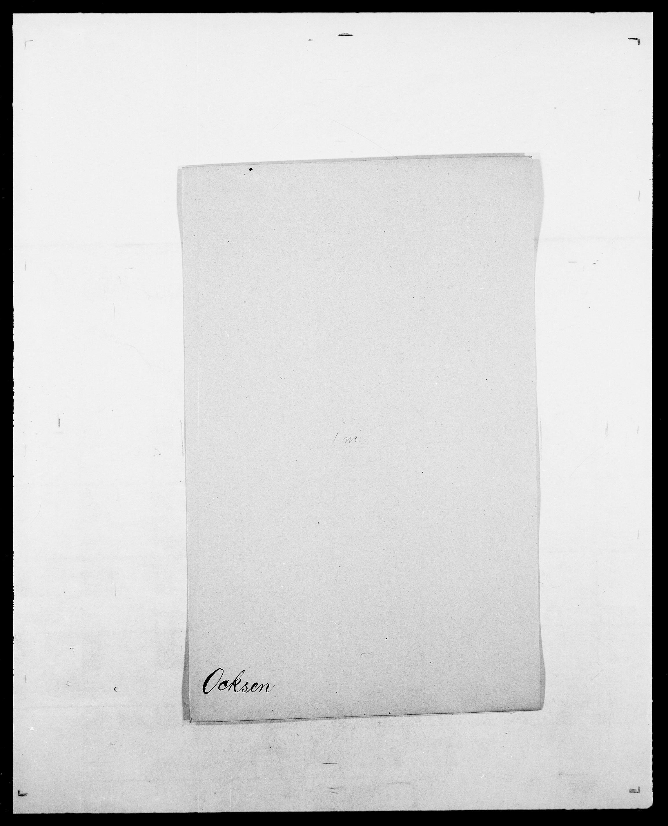 SAO, Delgobe, Charles Antoine - samling, D/Da/L0029: Obel - Oxholm, s. 11
