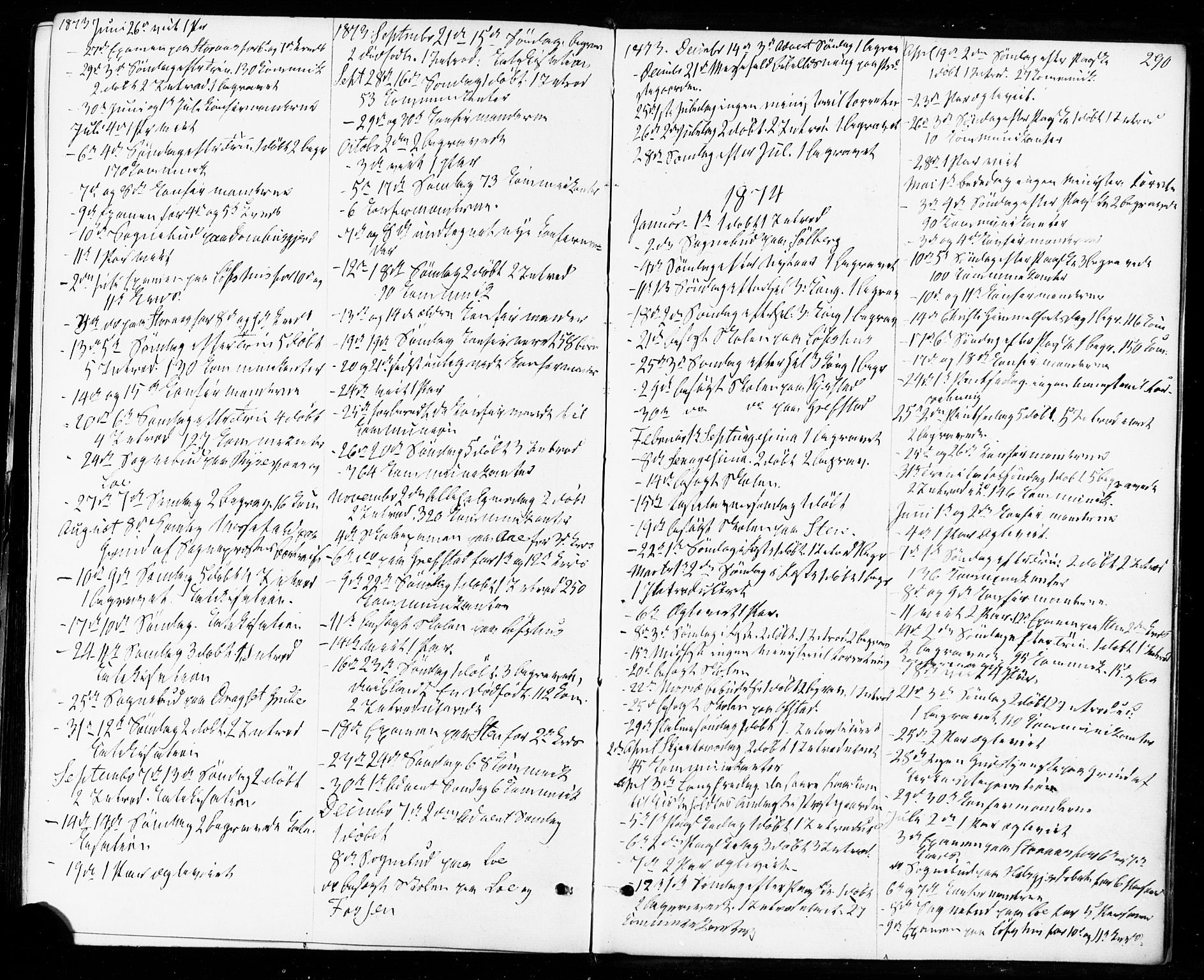 SAT, Ministerialprotokoller, klokkerbøker og fødselsregistre - Sør-Trøndelag, 672/L0856: Ministerialbok nr. 672A08, 1861-1881, s. 290