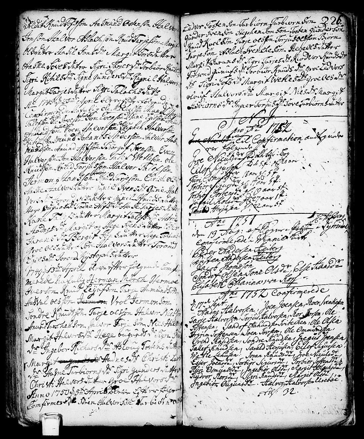 SAKO, Vinje kirkebøker, F/Fa/L0001: Ministerialbok nr. I 1, 1717-1766, s. 226