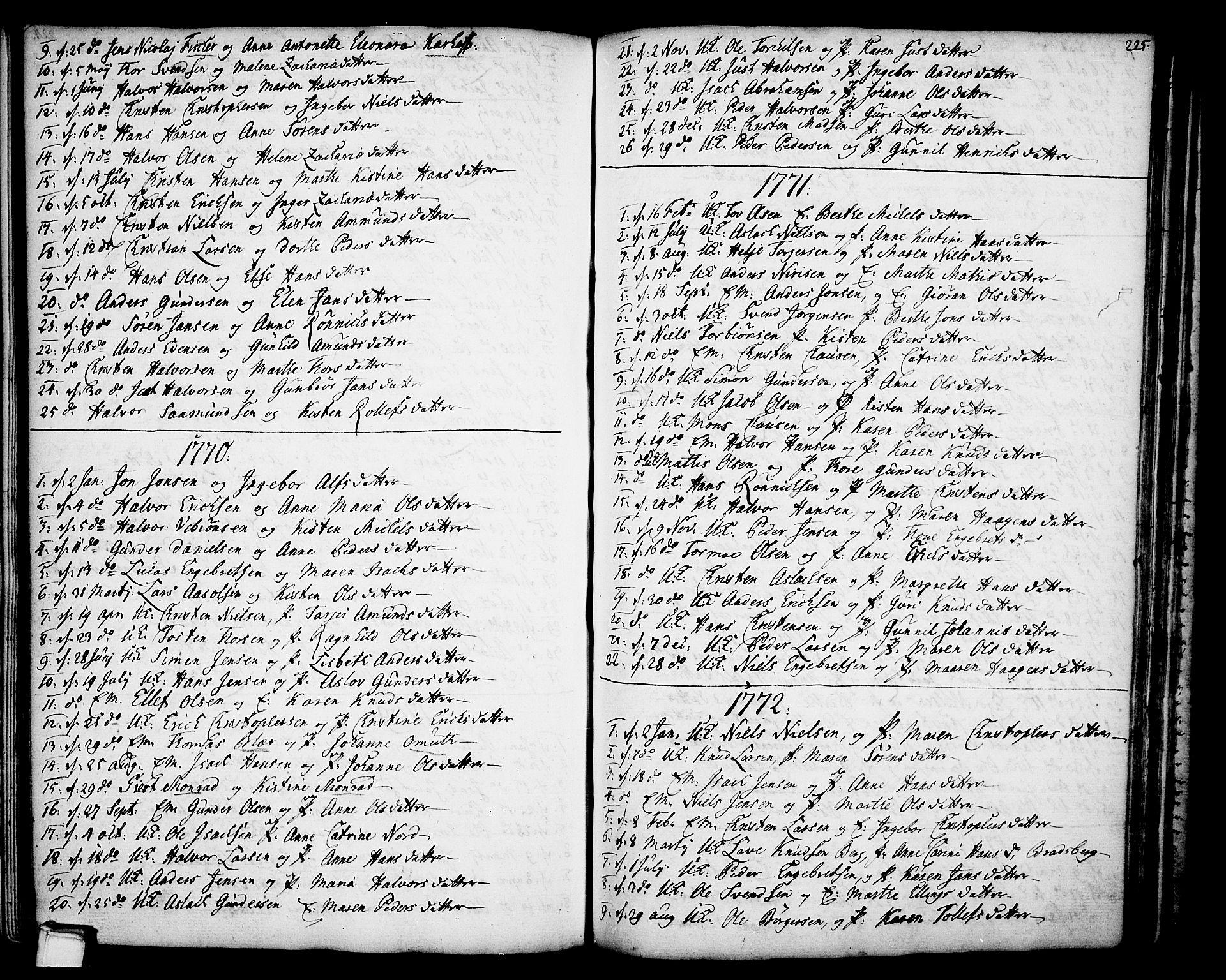 SAKO, Gjerpen kirkebøker, F/Fa/L0002: Ministerialbok nr. 2, 1747-1795, s. 225