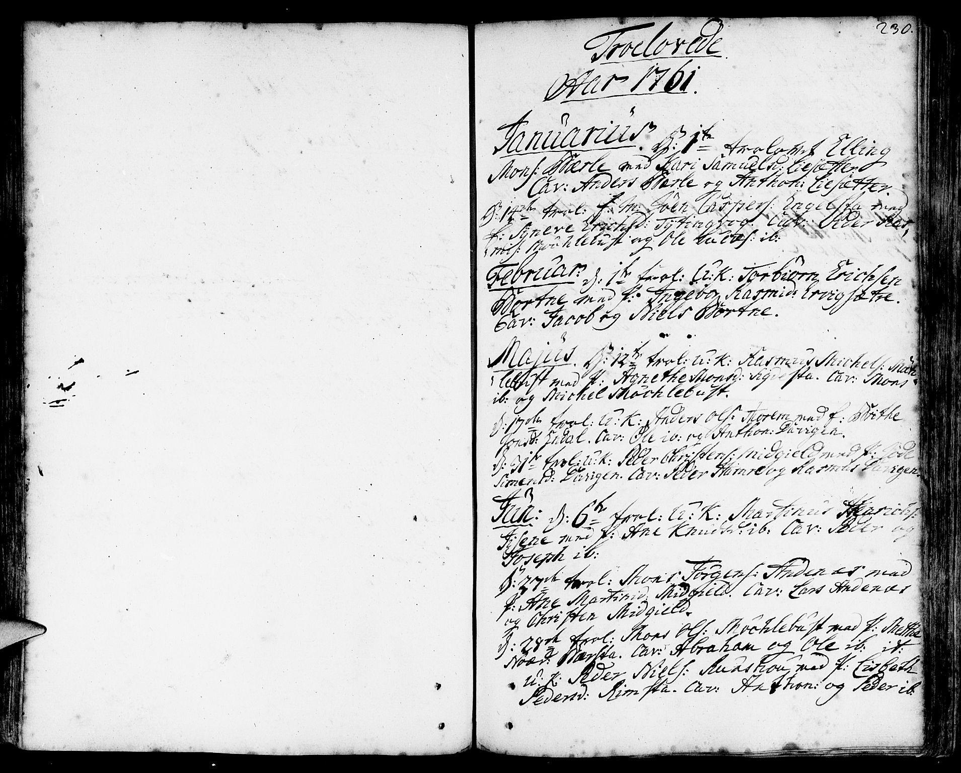 SAB, Davik Sokneprestembete, Ministerialbok nr. A 2, 1742-1816, s. 230