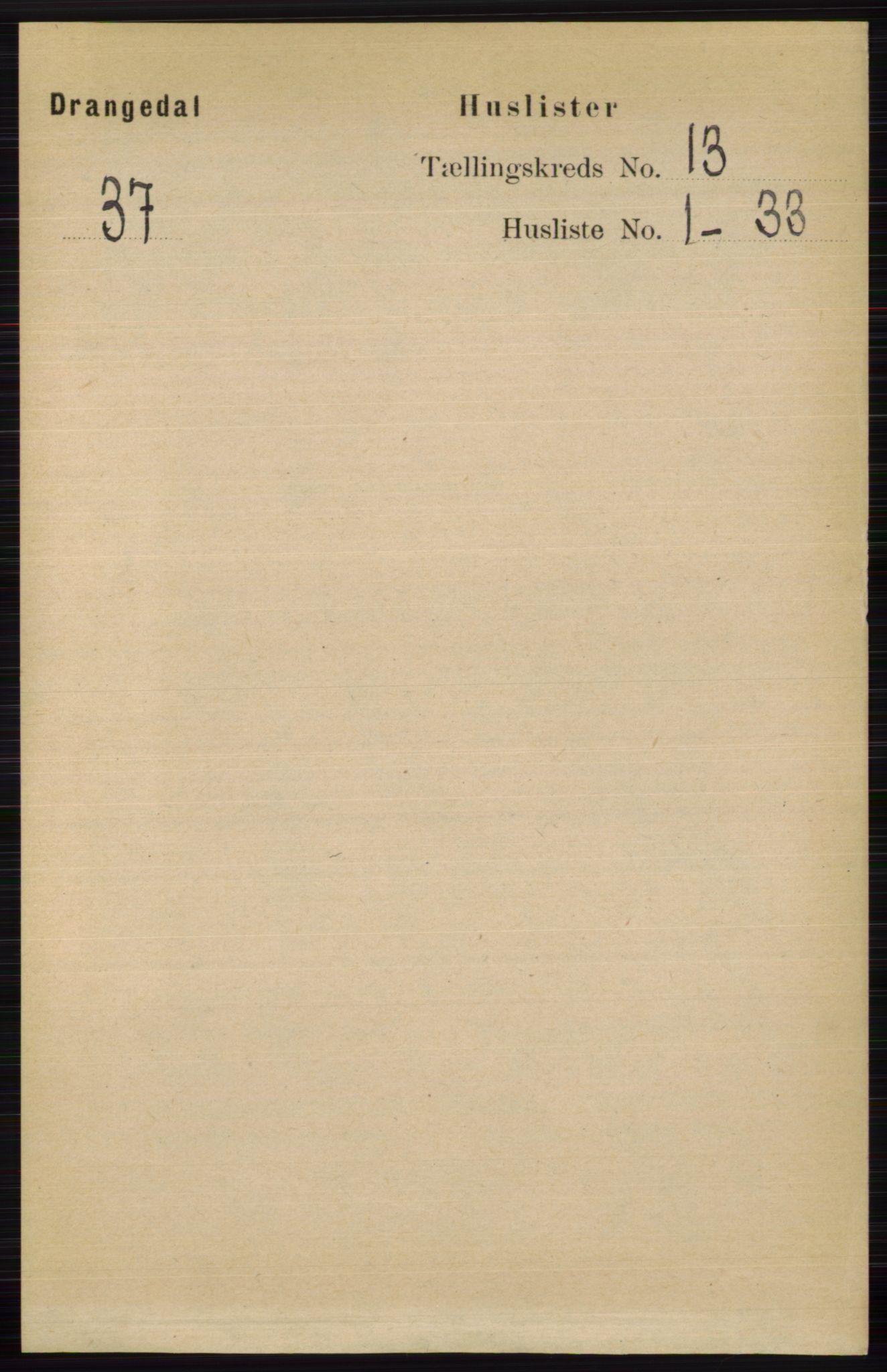 RA, Folketelling 1891 for 0817 Drangedal herred, 1891, s. 4672