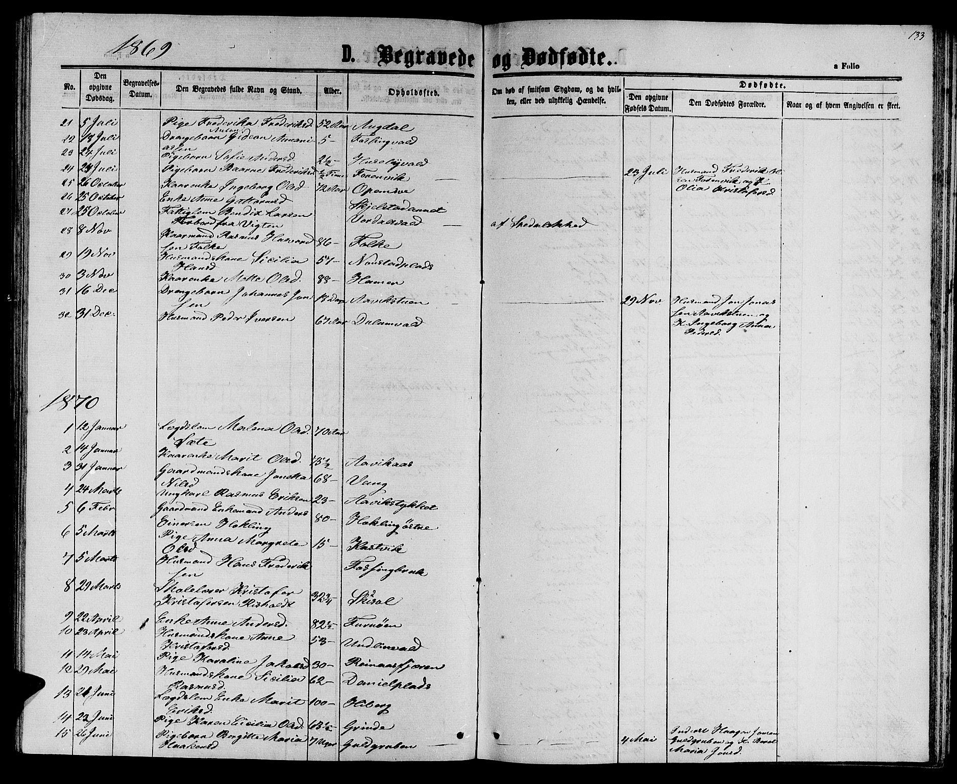 SAT, Ministerialprotokoller, klokkerbøker og fødselsregistre - Nord-Trøndelag, 714/L0133: Klokkerbok nr. 714C02, 1865-1877, s. 133