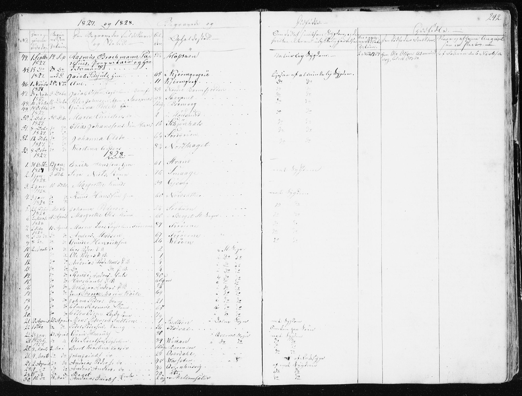 SAT, Ministerialprotokoller, klokkerbøker og fødselsregistre - Sør-Trøndelag, 634/L0528: Ministerialbok nr. 634A04, 1827-1842, s. 242