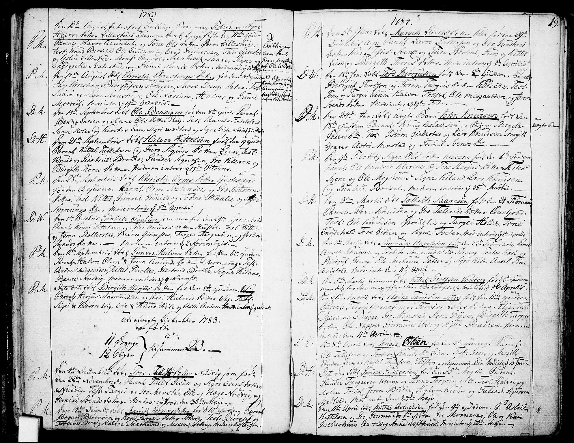 SAKO, Fyresdal kirkebøker, F/Fa/L0002: Ministerialbok nr. I 2, 1769-1814, s. 19