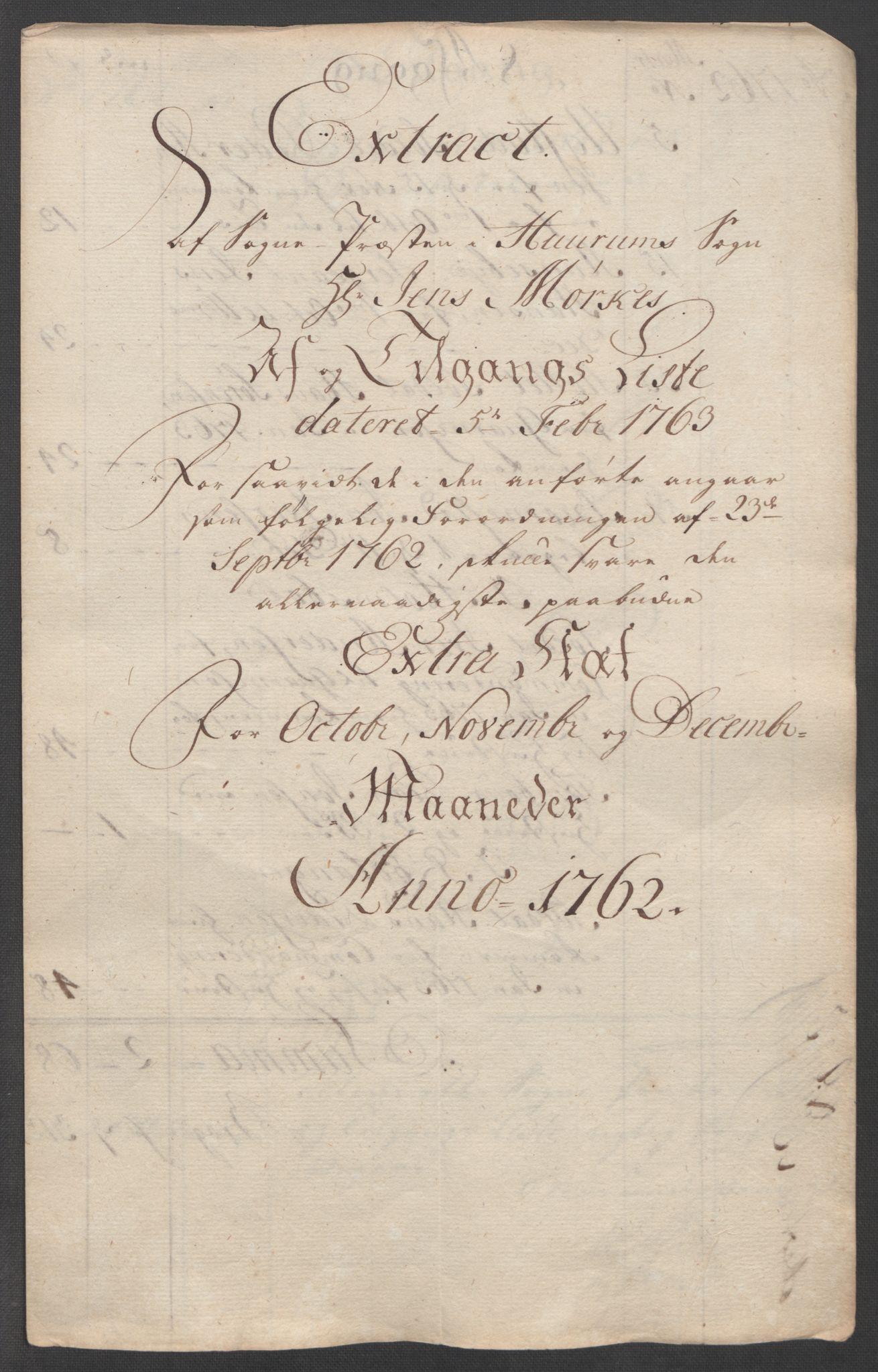 RA, Rentekammeret inntil 1814, Reviderte regnskaper, Fogderegnskap, R31/L1833: Ekstraskatten Hurum, Røyken, Eiker, Lier og Buskerud, 1762-1764, s. 18