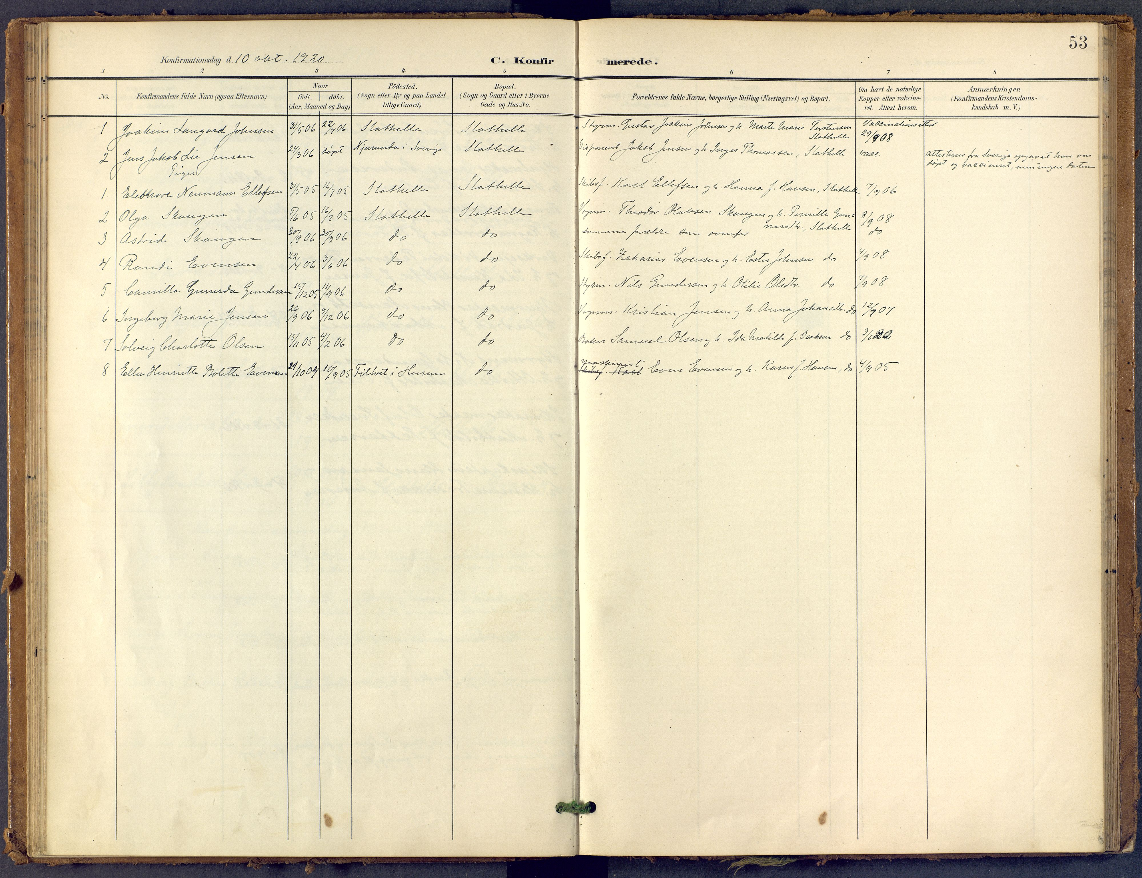 SAKO, Bamble kirkebøker, F/Fb/L0002: Ministerialbok nr. II 2, 1900-1921, s. 53