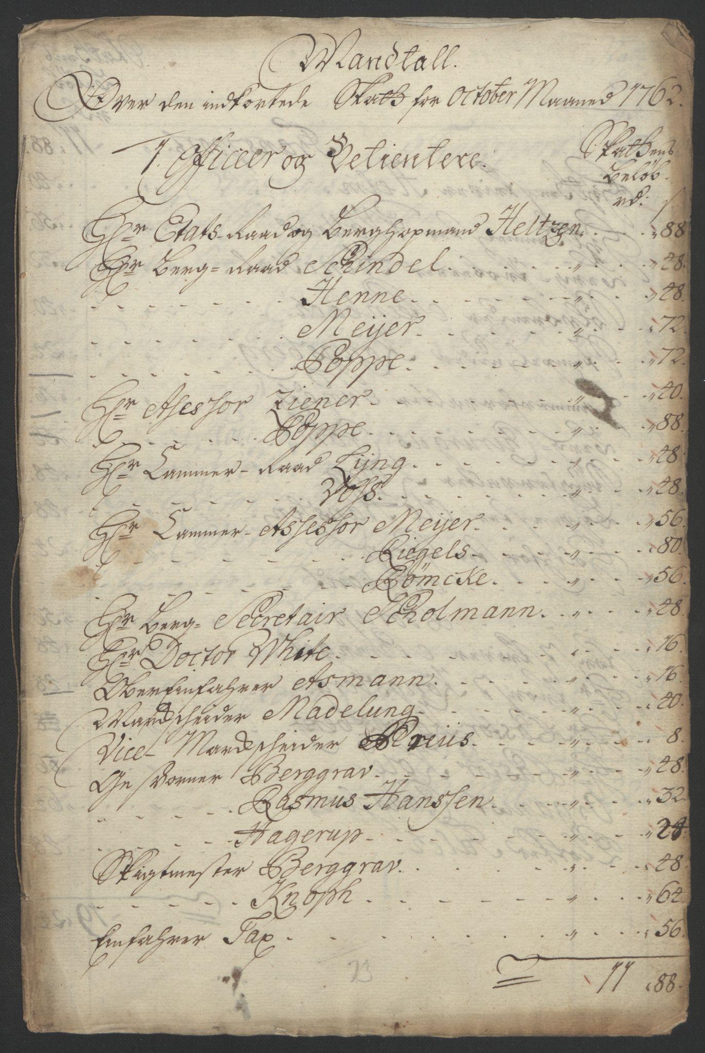 RA, Rentekammeret inntil 1814, Reviderte regnskaper, Bergverksregnskaper, R/Rc/Rca/L0843: Ekstraskatt, 1762-1765, s. 139