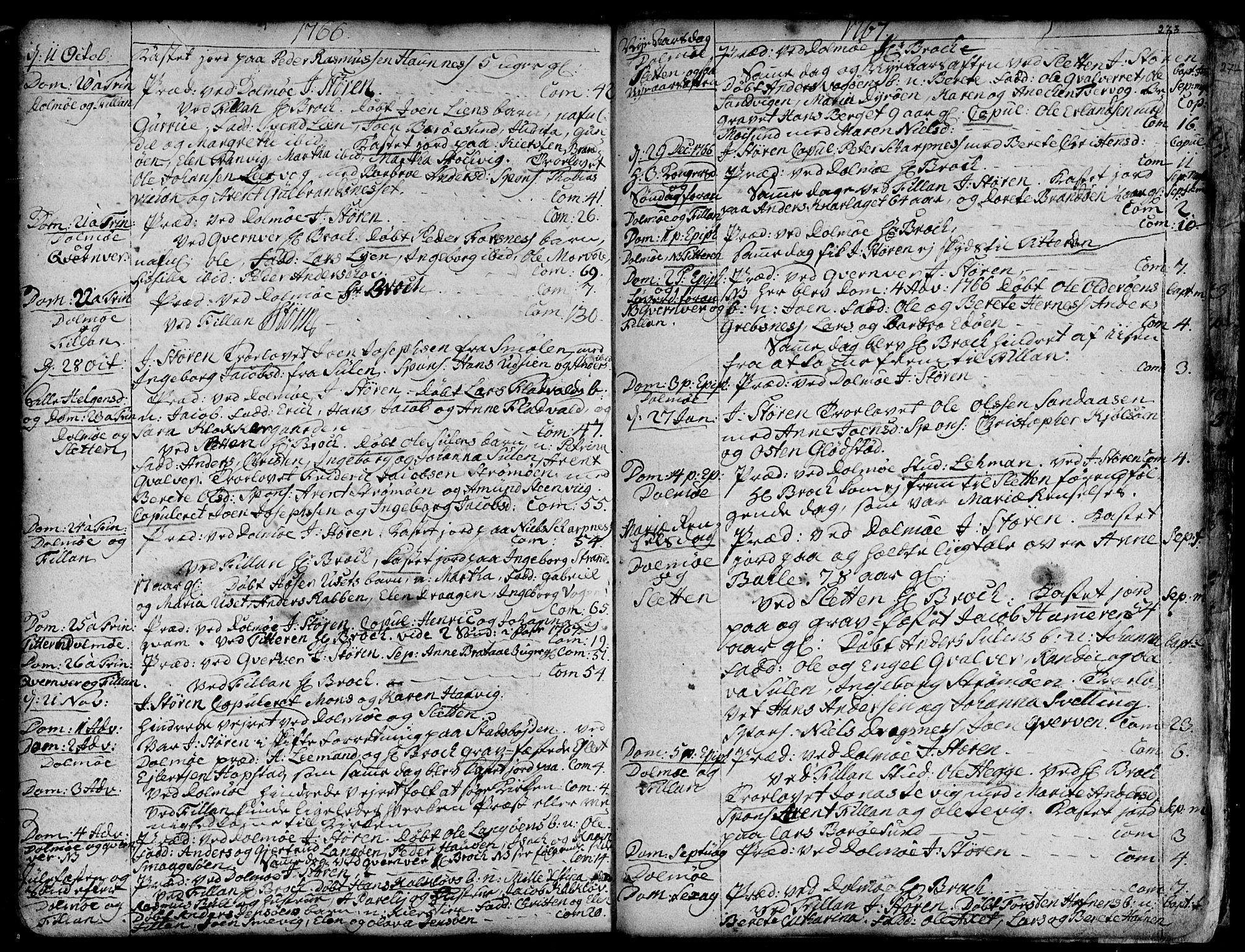 SAT, Ministerialprotokoller, klokkerbøker og fødselsregistre - Sør-Trøndelag, 634/L0525: Ministerialbok nr. 634A01, 1736-1775, s. 273