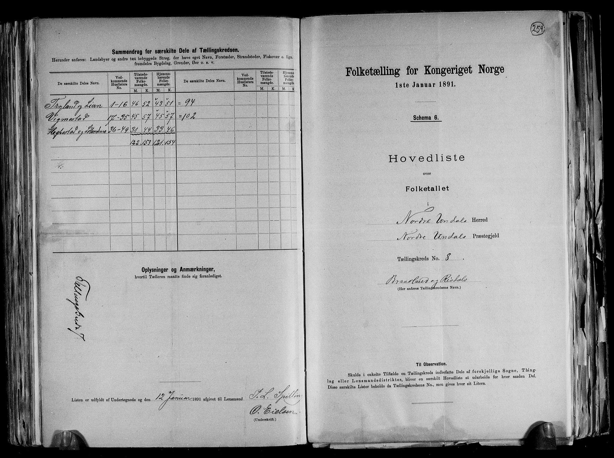 RA, Folketelling 1891 for 1028 Nord-Audnedal herred, 1891, s. 19