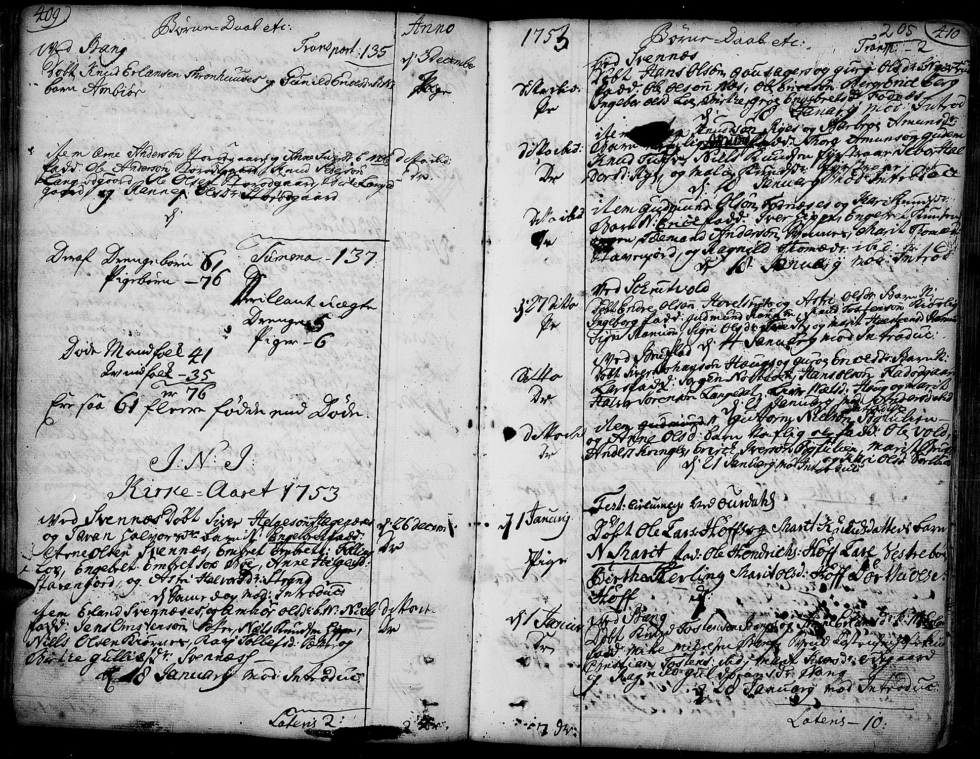 SAH, Aurdal prestekontor, Ministerialbok nr. 4, 1730-1762, s. 409-410