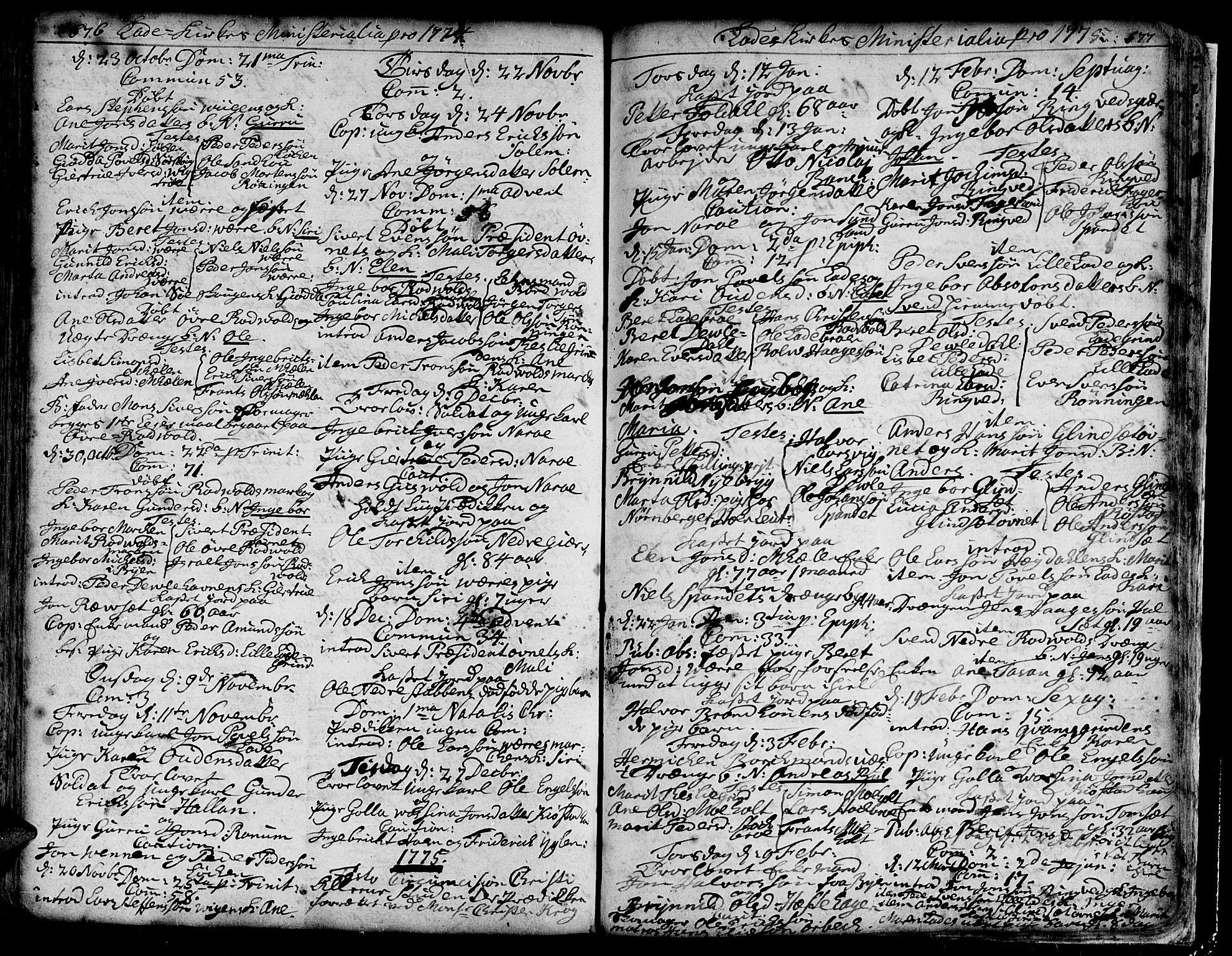 SAT, Ministerialprotokoller, klokkerbøker og fødselsregistre - Sør-Trøndelag, 606/L0275: Ministerialbok nr. 606A01 /1, 1727-1780, s. 676-677