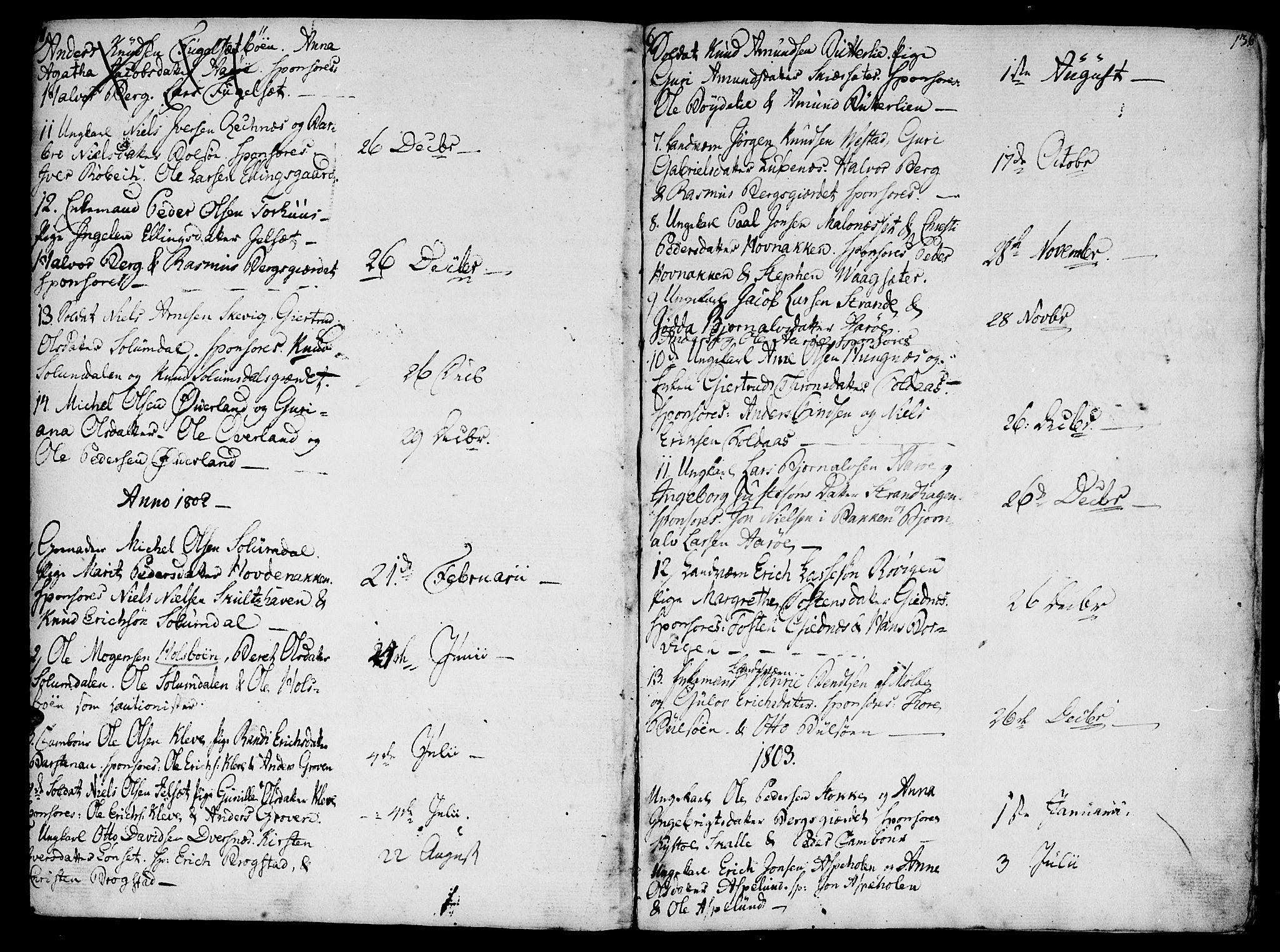 SAT, Ministerialprotokoller, klokkerbøker og fødselsregistre - Møre og Romsdal, 555/L0650: Ministerialbok nr. 555A02 /2, 1798-1821, s. 136