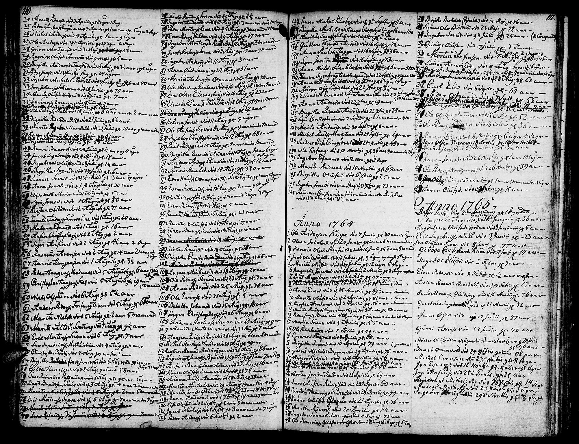 SAT, Ministerialprotokoller, klokkerbøker og fødselsregistre - Nord-Trøndelag, 746/L0440: Ministerialbok nr. 746A02, 1760-1815, s. 110-111