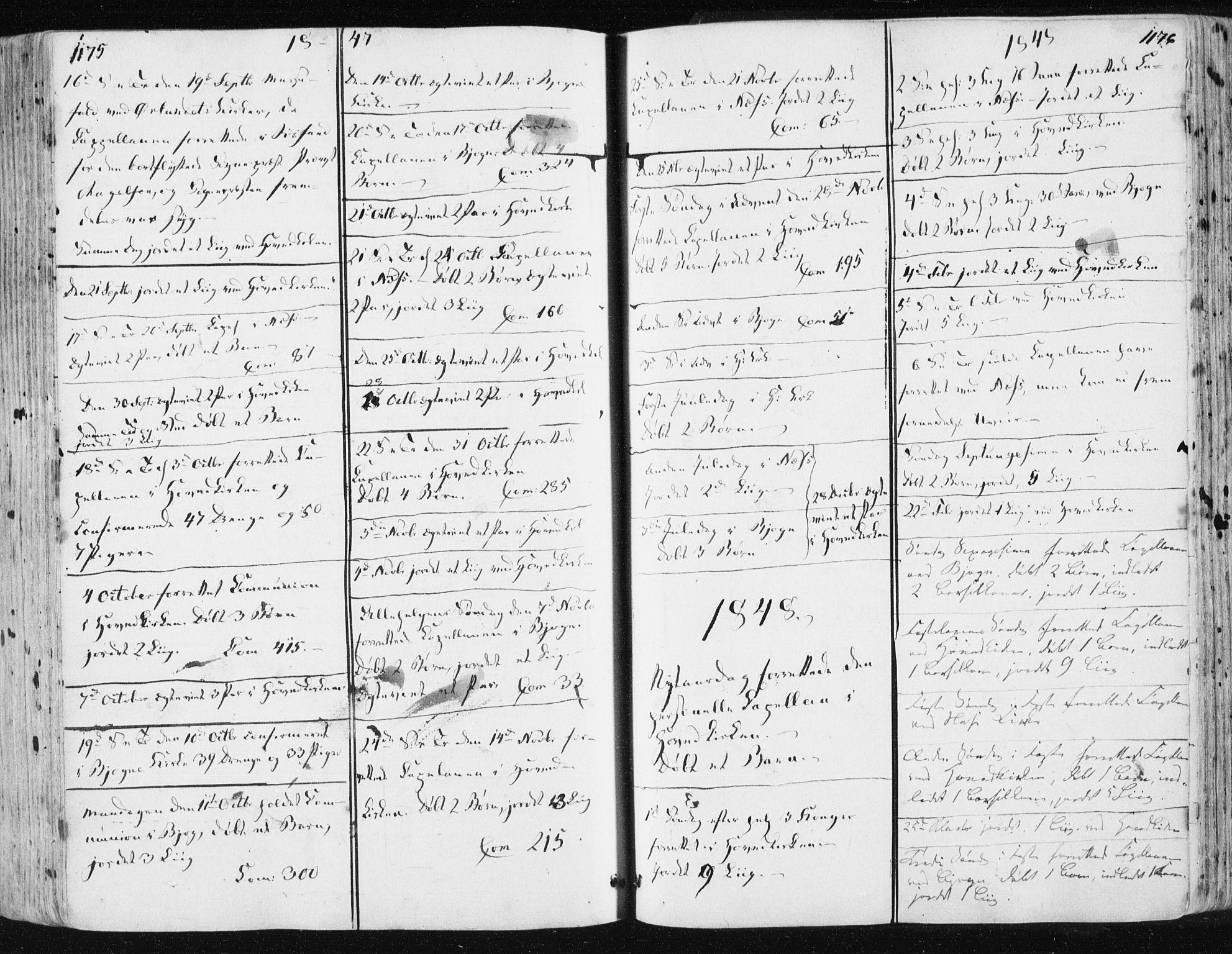 SAT, Ministerialprotokoller, klokkerbøker og fødselsregistre - Sør-Trøndelag, 659/L0736: Ministerialbok nr. 659A06, 1842-1856, s. 1175-1176
