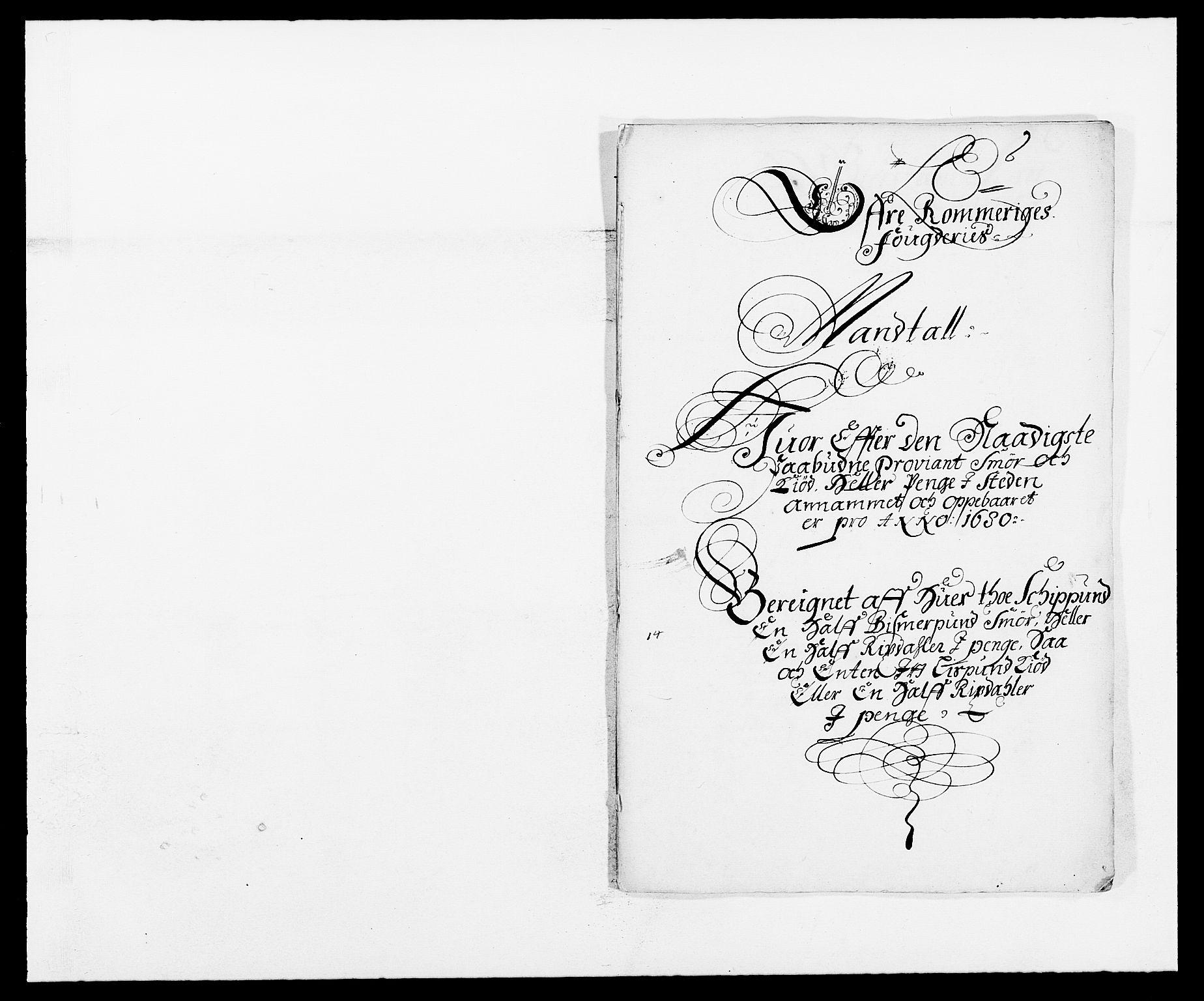 RA, Rentekammeret inntil 1814, Reviderte regnskaper, Fogderegnskap, R12/L0695: Fogderegnskap Øvre Romerike, 1680, s. 201