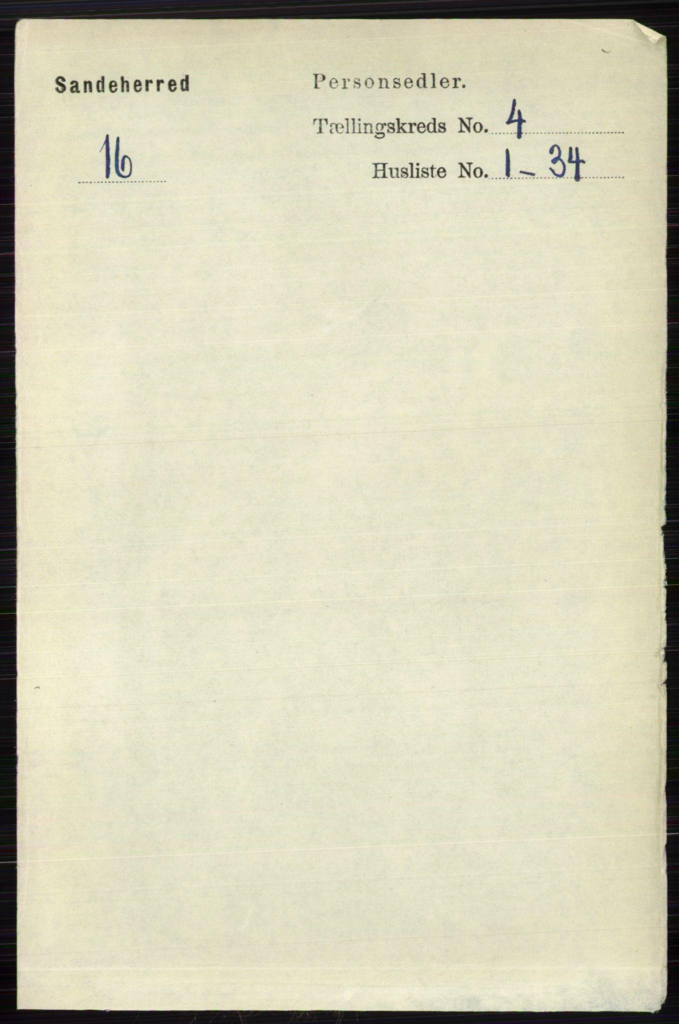 RA, Folketelling 1891 for 0724 Sandeherred herred, 1891, s. 2348