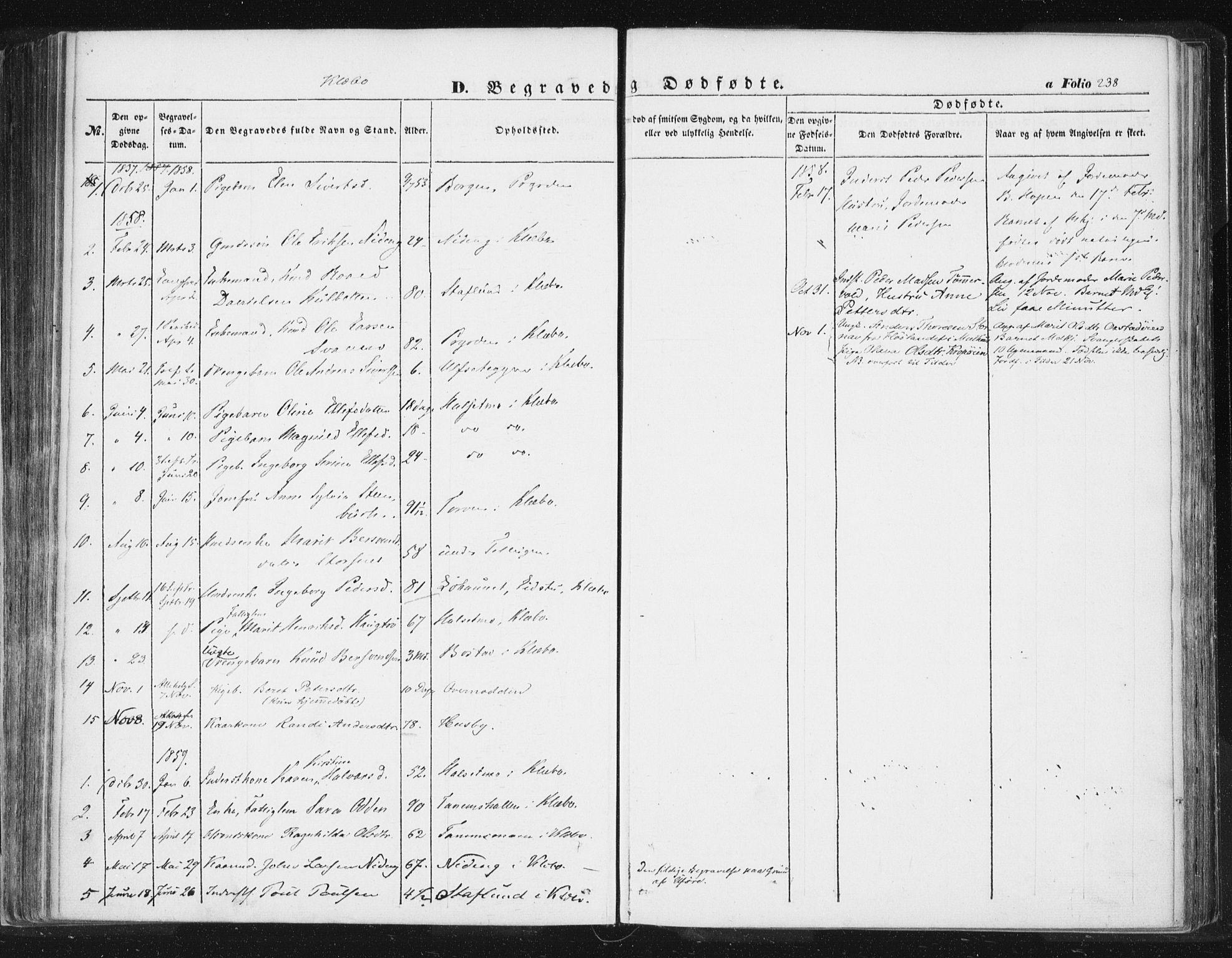 SAT, Ministerialprotokoller, klokkerbøker og fødselsregistre - Sør-Trøndelag, 618/L0441: Ministerialbok nr. 618A05, 1843-1862, s. 238