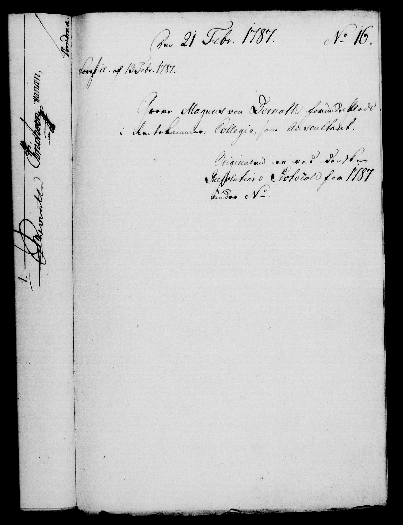 RA, Rentekammeret, Kammerkanselliet, G/Gf/Gfa/L0069: Norsk relasjons- og resolusjonsprotokoll (merket RK 52.69), 1787, s. 136